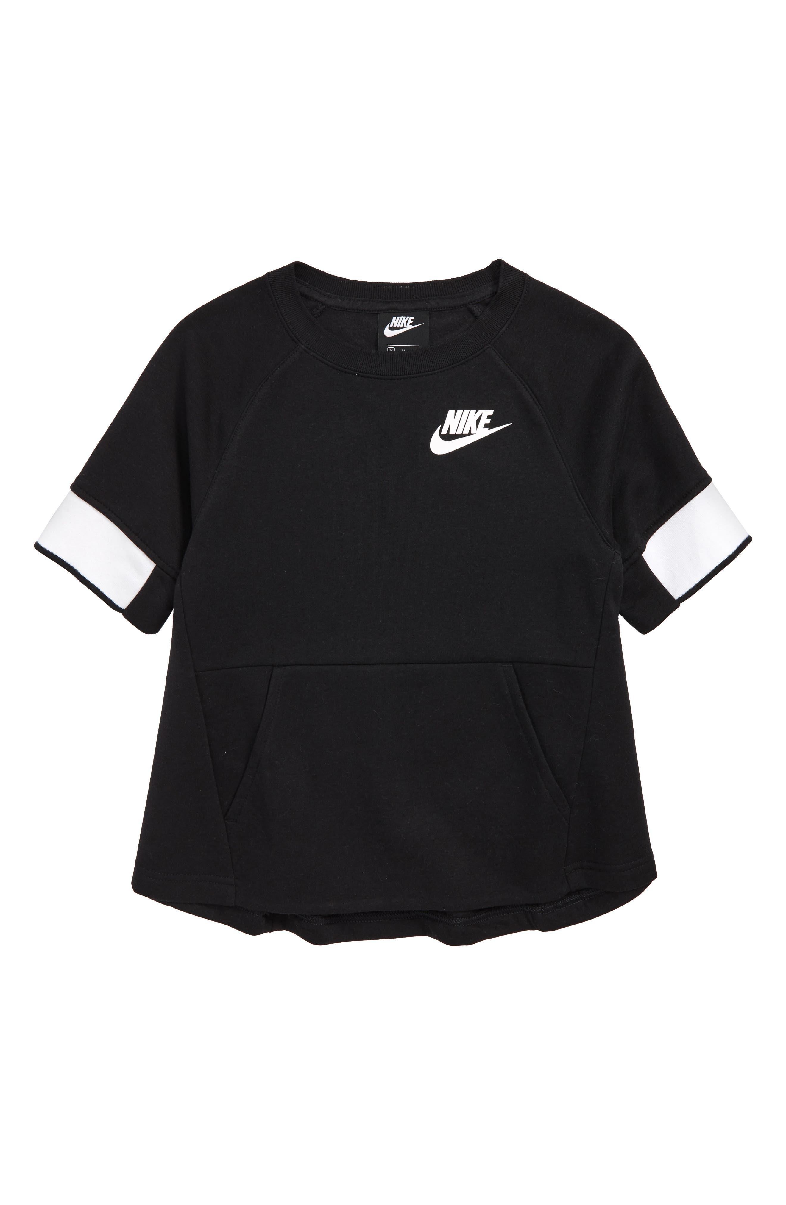 Sportswear Crewneck Pullover,                             Main thumbnail 1, color,                             BLACK/ WHITE