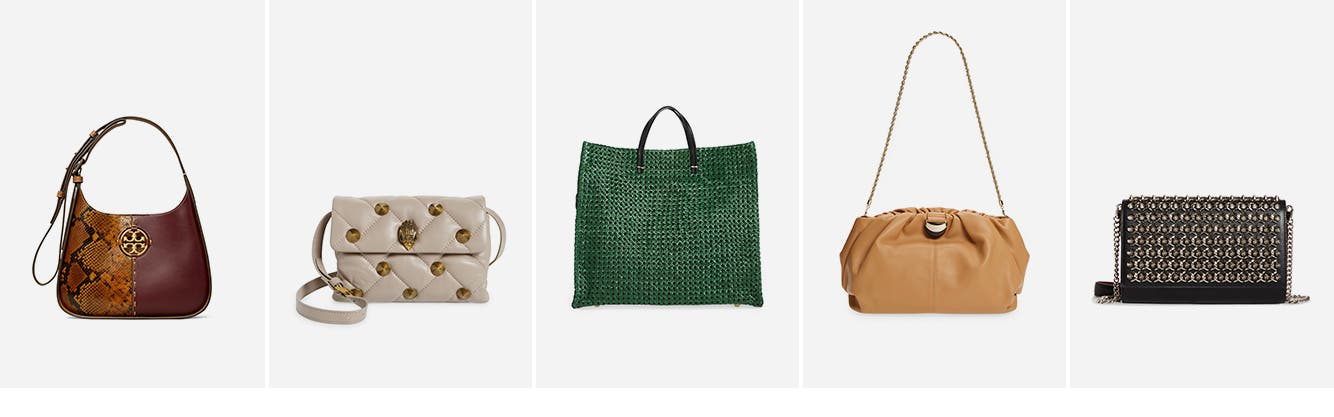 Women's handbags: shoulder bag, crossbody bag, tote bag, clutch and designer handbag.