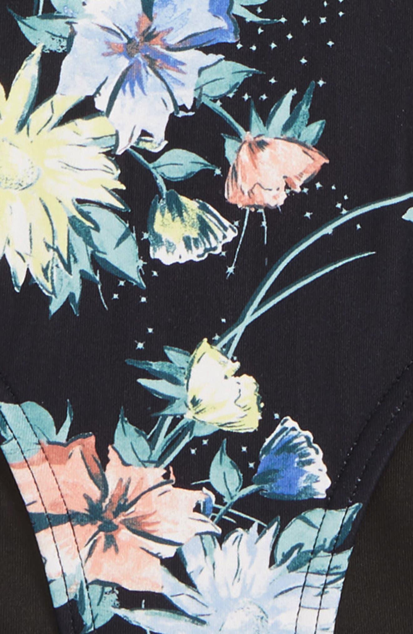 O'NEILL,                             Dahlia Floral Two-Piece Swimsuit,                             Alternate thumbnail 4, color,                             BLACK