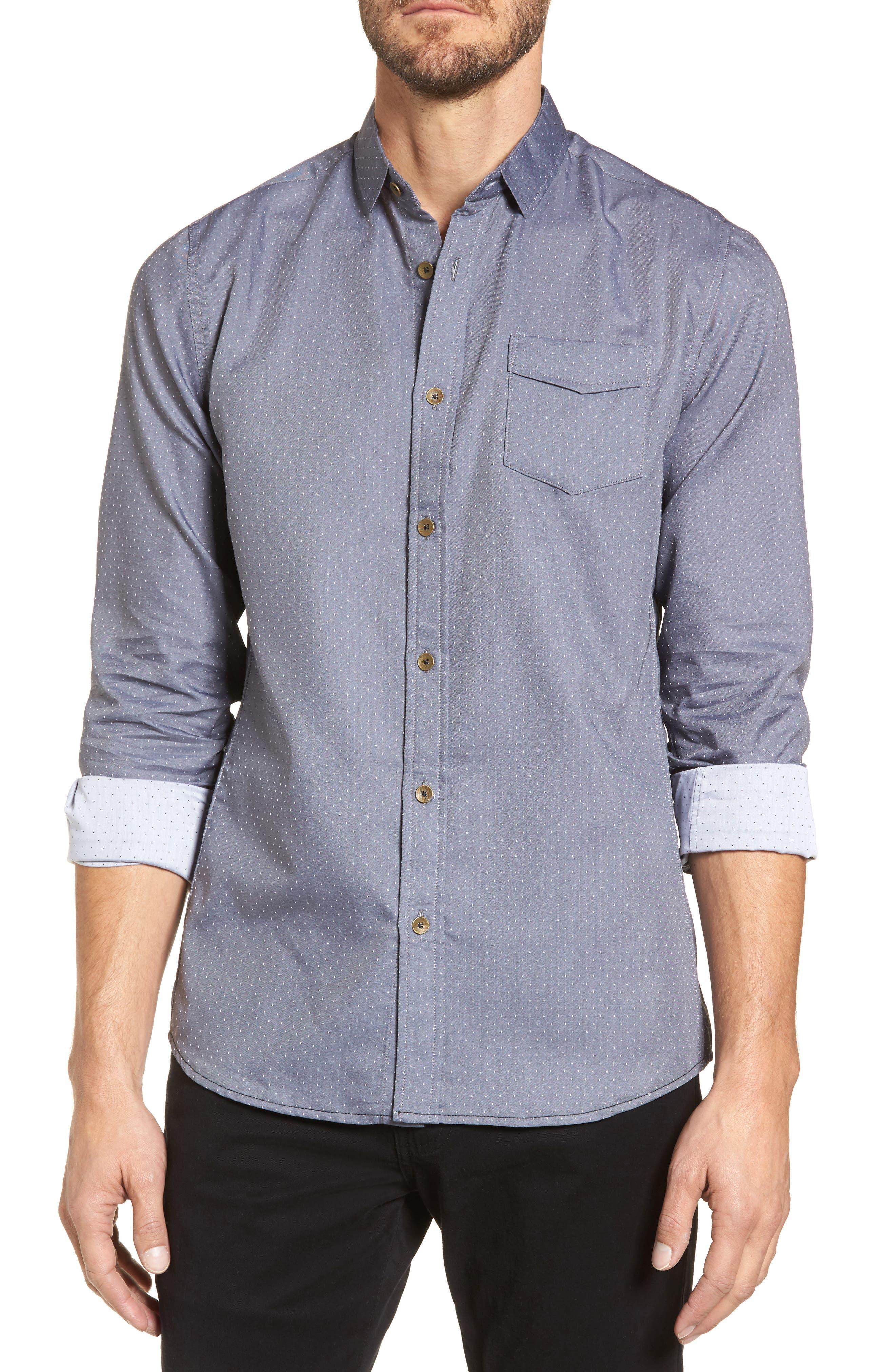 Micro Polka Dot Sport Shirt,                         Main,                         color,