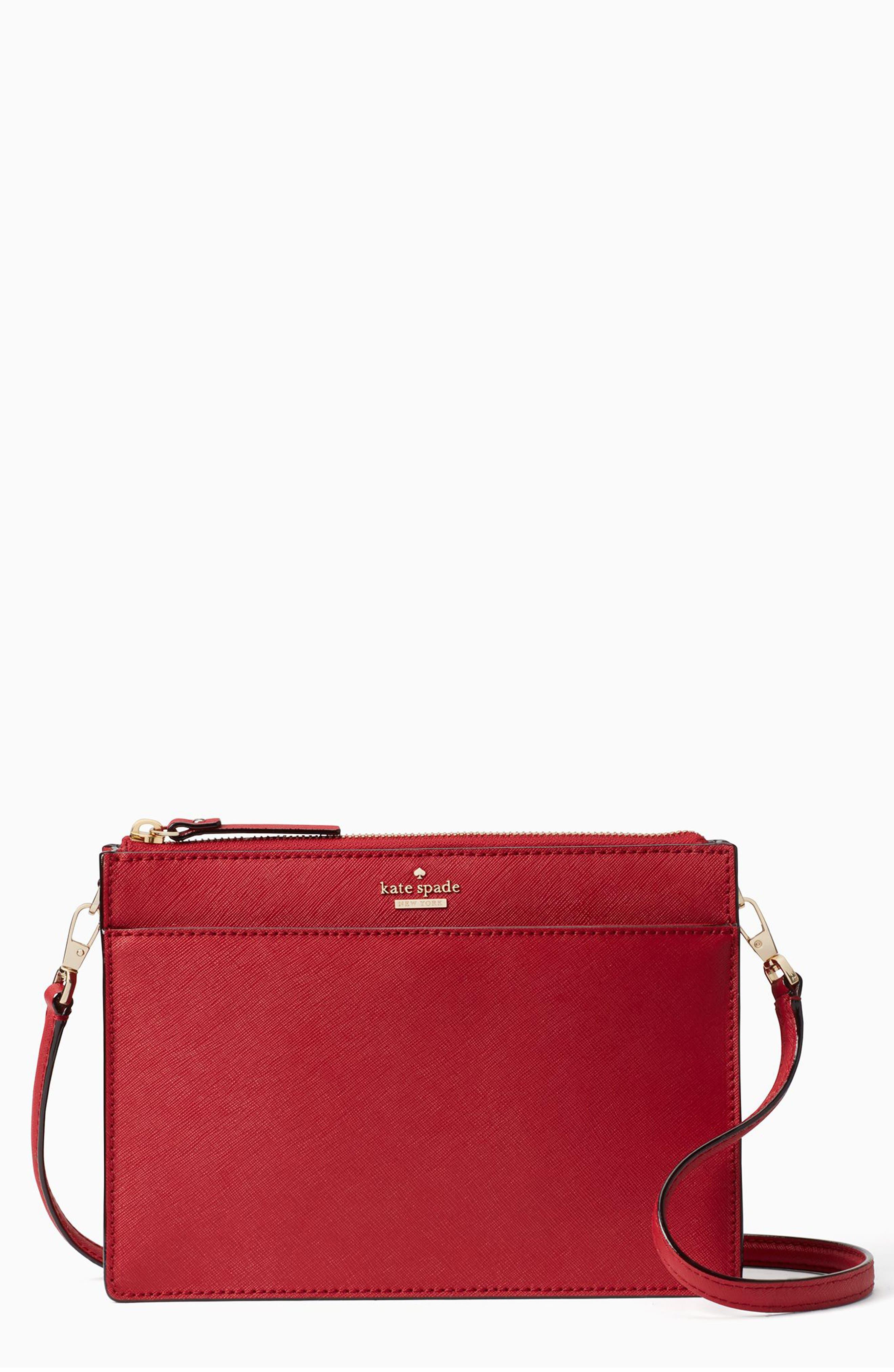 cameron street clarise leather shoulder bag,                         Main,                         color, SIENNA