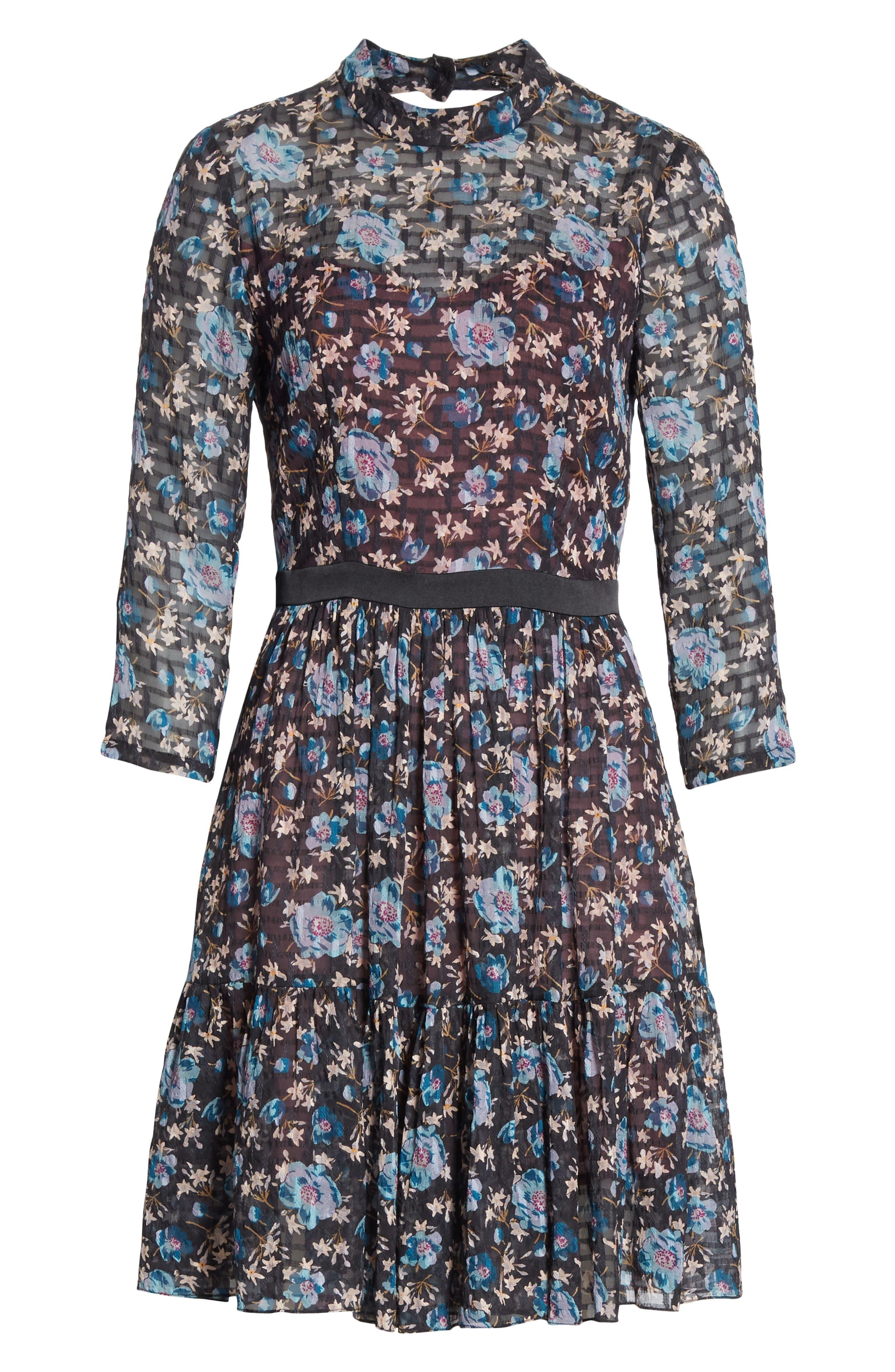 Solstice Silk Blend Dress,                             Alternate thumbnail 6, color,                             014