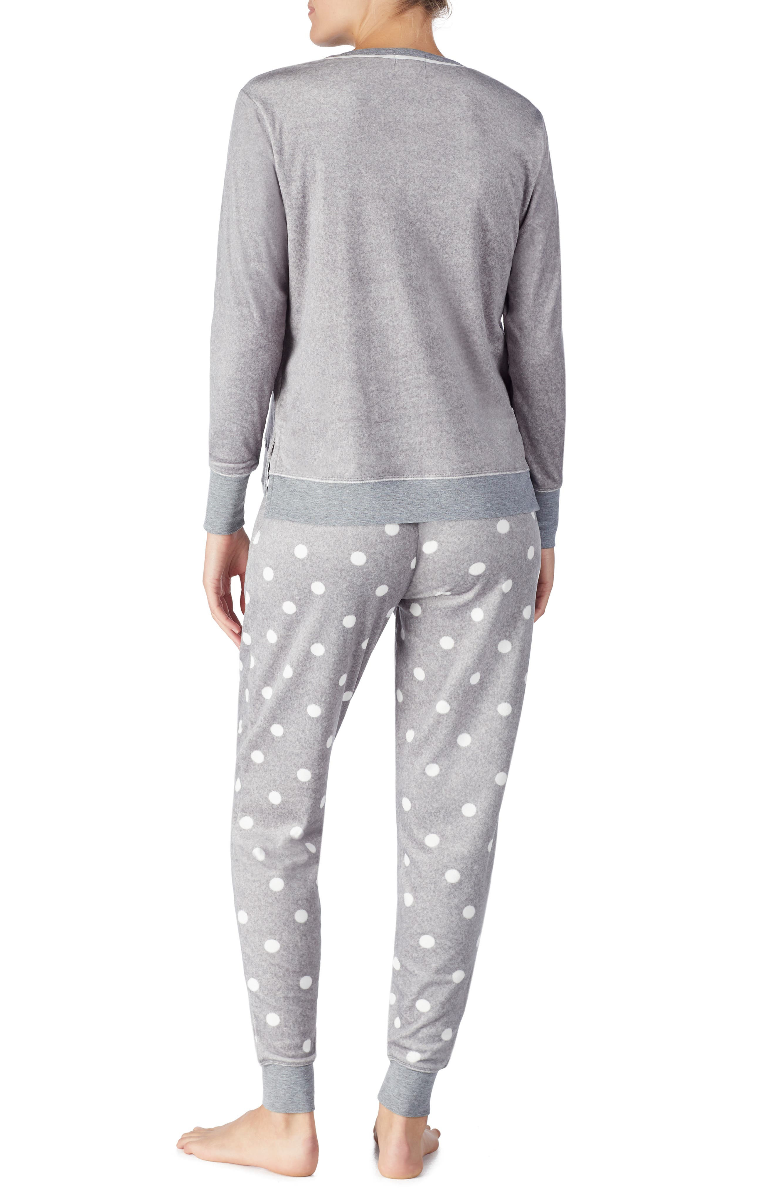 jogger long pajamas,                             Alternate thumbnail 2, color,                             GREY DOT