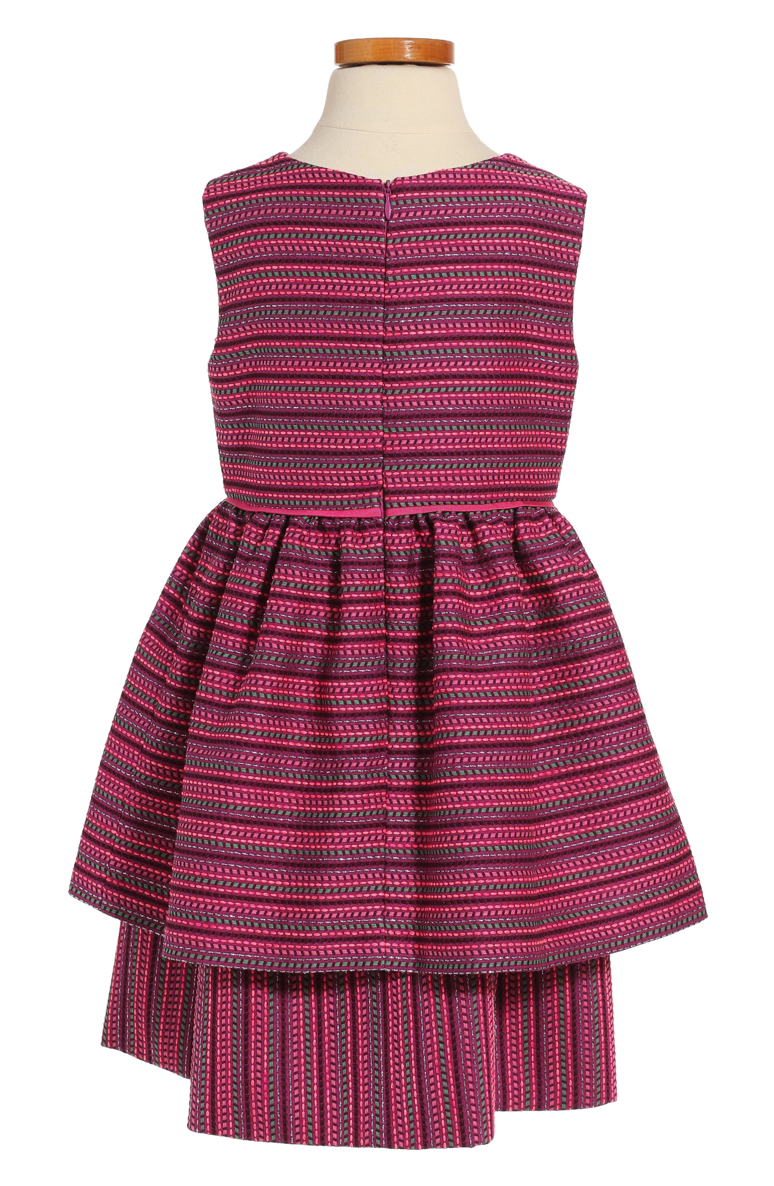 Tiered Sleeveless Dress,                             Alternate thumbnail 2, color,