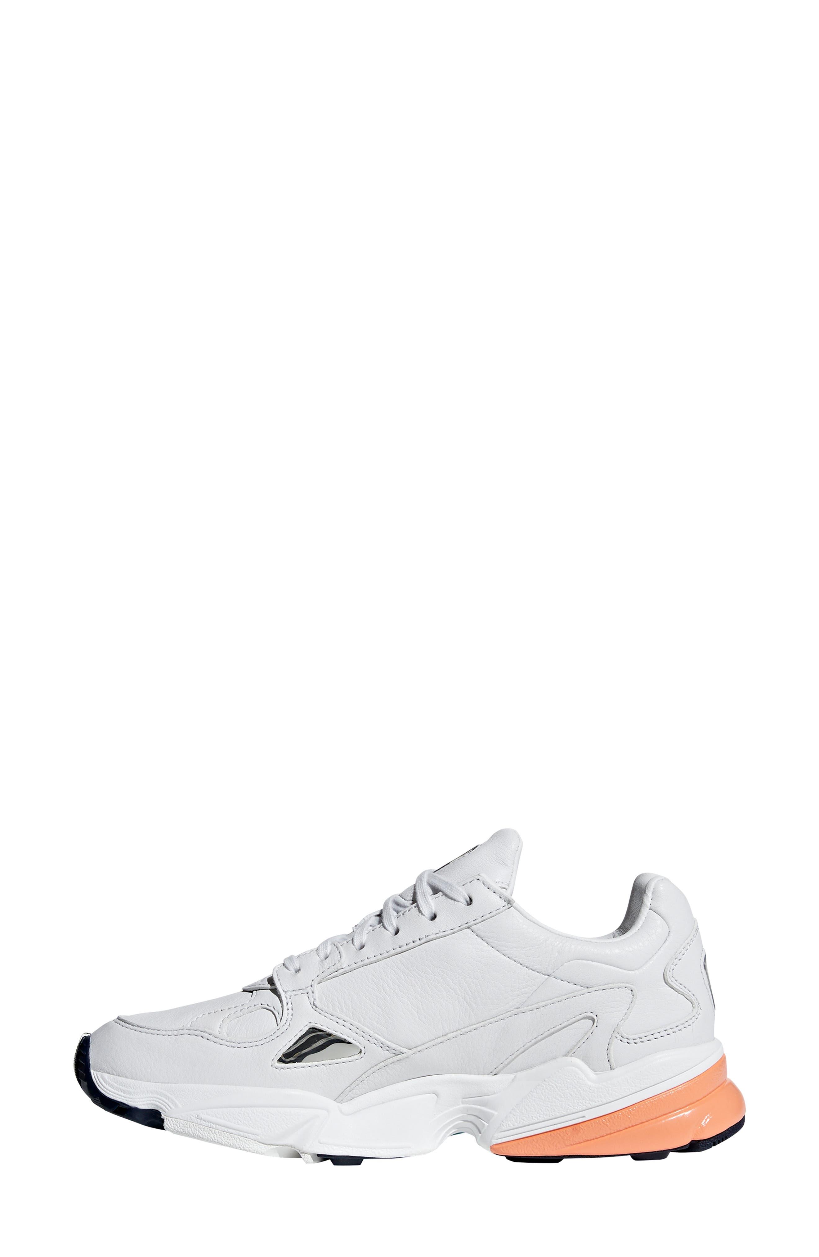 Falcon Sneaker,                             Alternate thumbnail 5, color,                             CRYSTAL WHITE/ EASY ORANGE