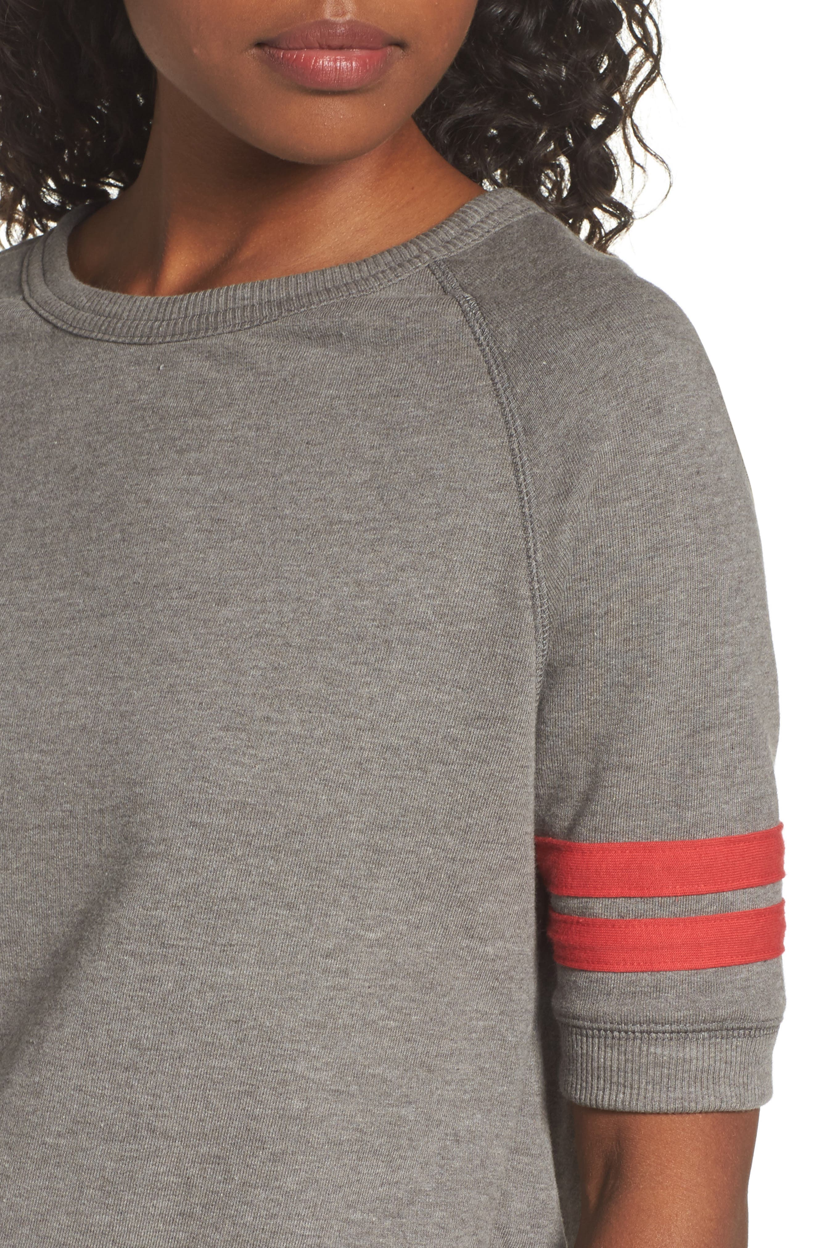 The Fifty Yardliner Pullover,                             Alternate thumbnail 4, color,                             VINTAGE COAL/ RED