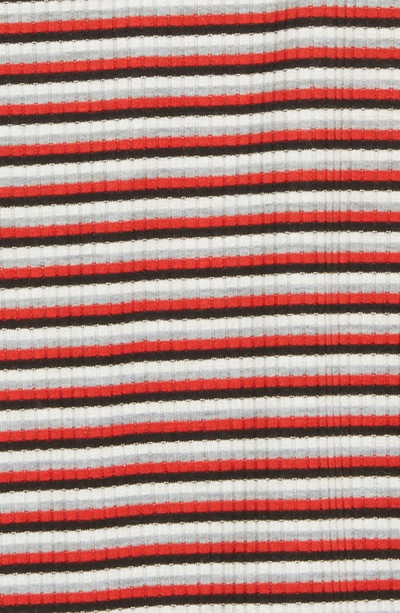 Asymmetrical Hem Tee,                             Alternate thumbnail 2, color,                             RED MULTI