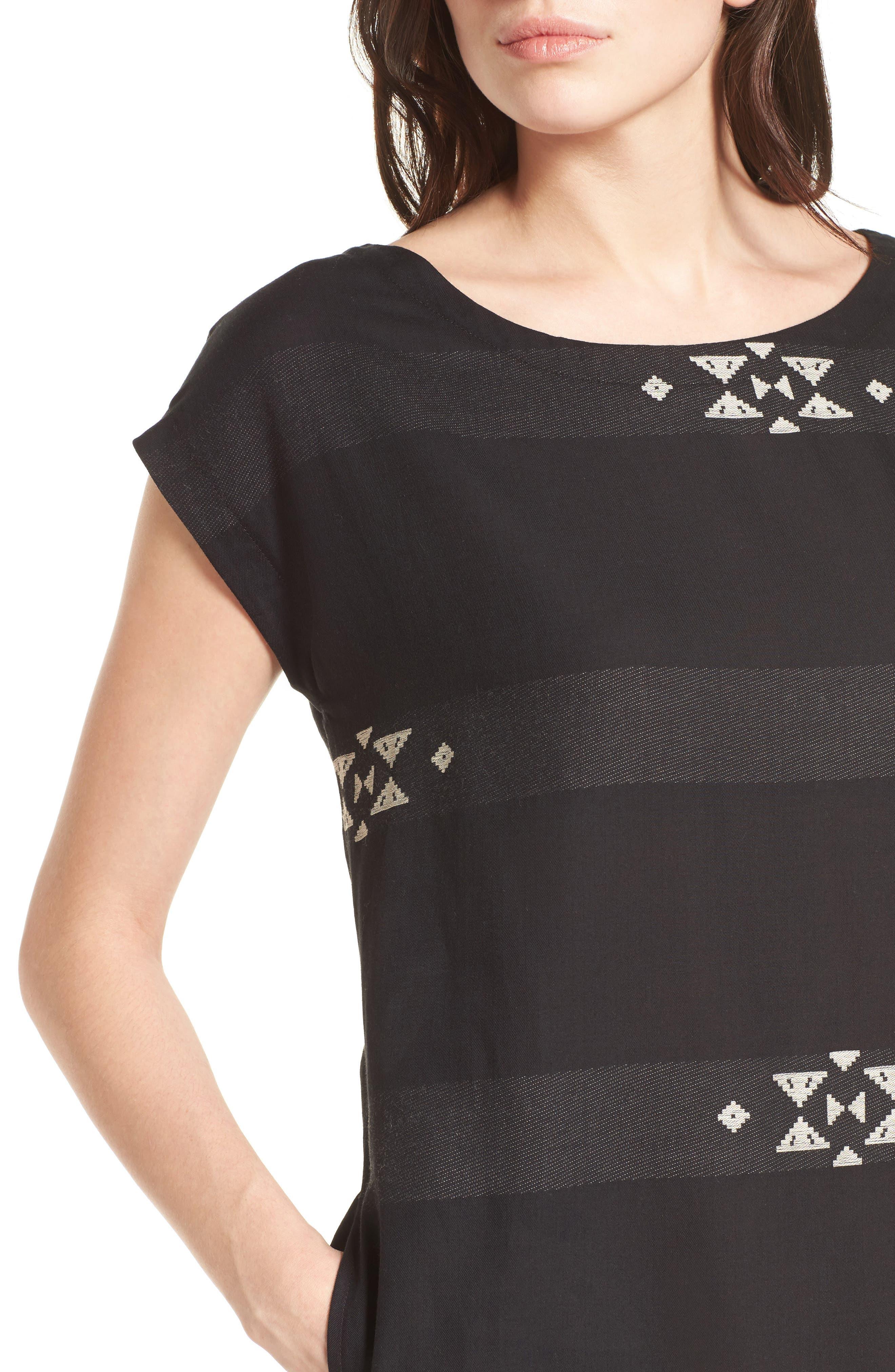 Cotton Jacquard Shirt Dress,                             Alternate thumbnail 4, color,