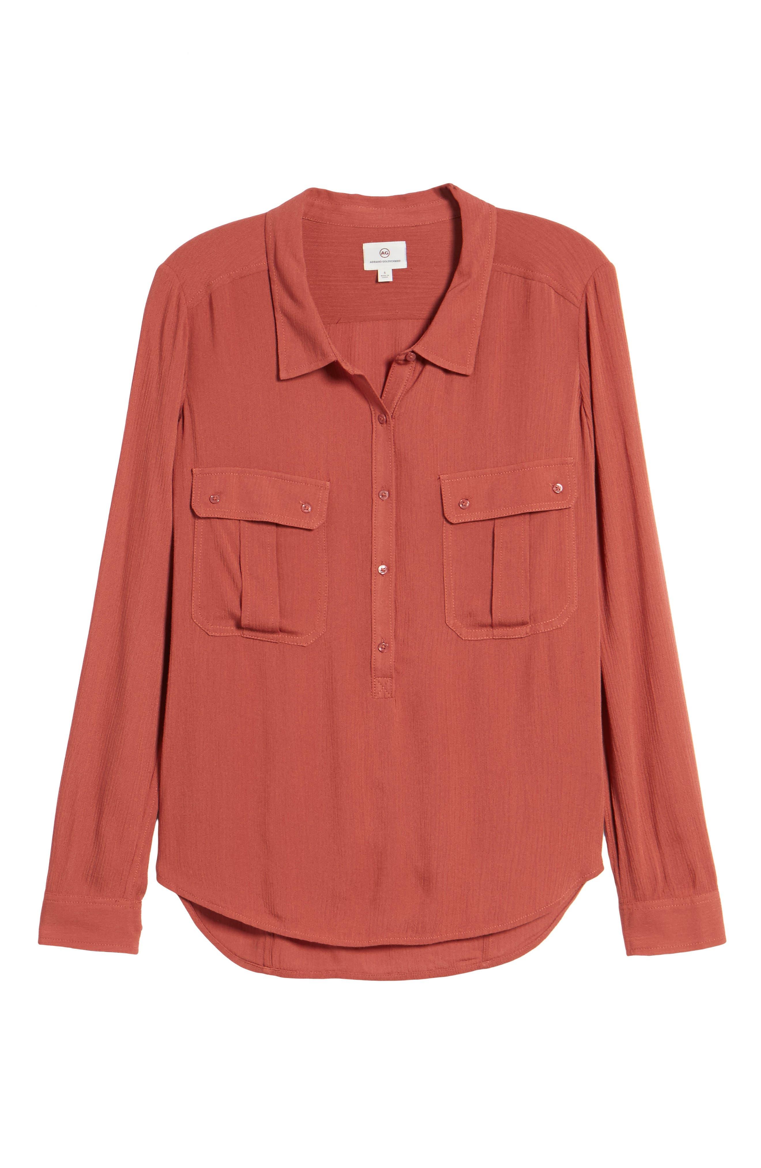 AG,                             Nevada Cotton Henley Shirt,                             Alternate thumbnail 6, color,                             600
