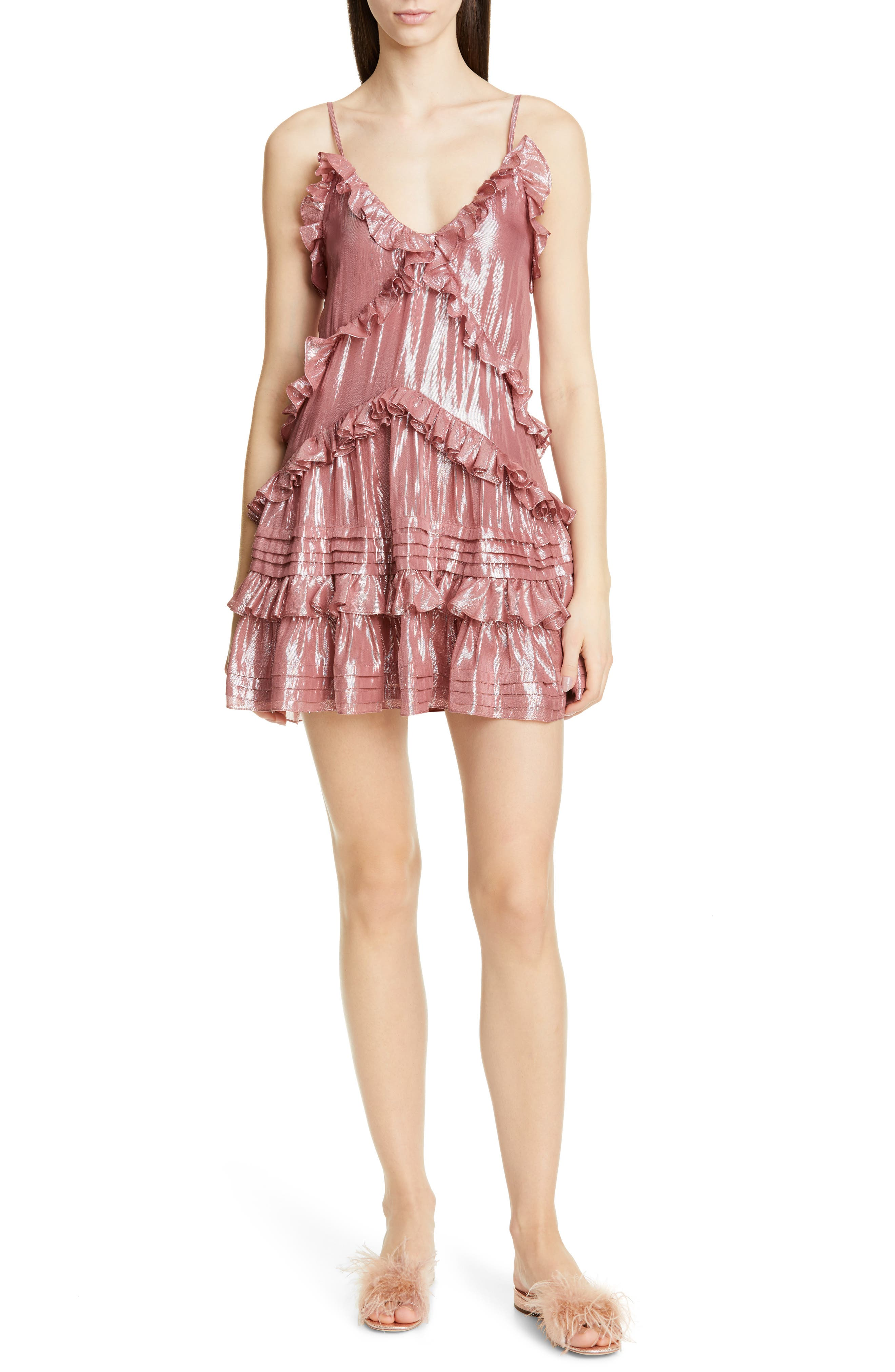 Rebecca Taylor Metallic Dress, Pink