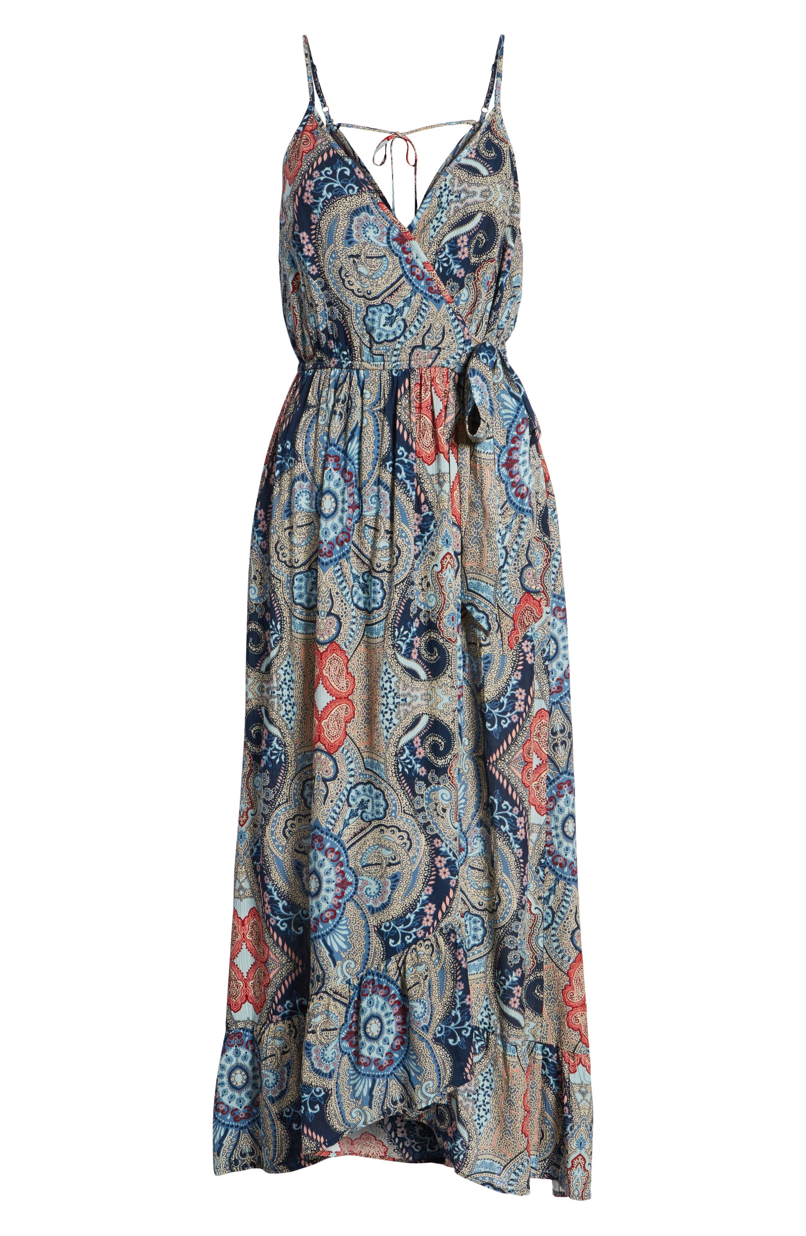 Kenzie Faux Wrap Dress,                             Alternate thumbnail 7, color,                             459