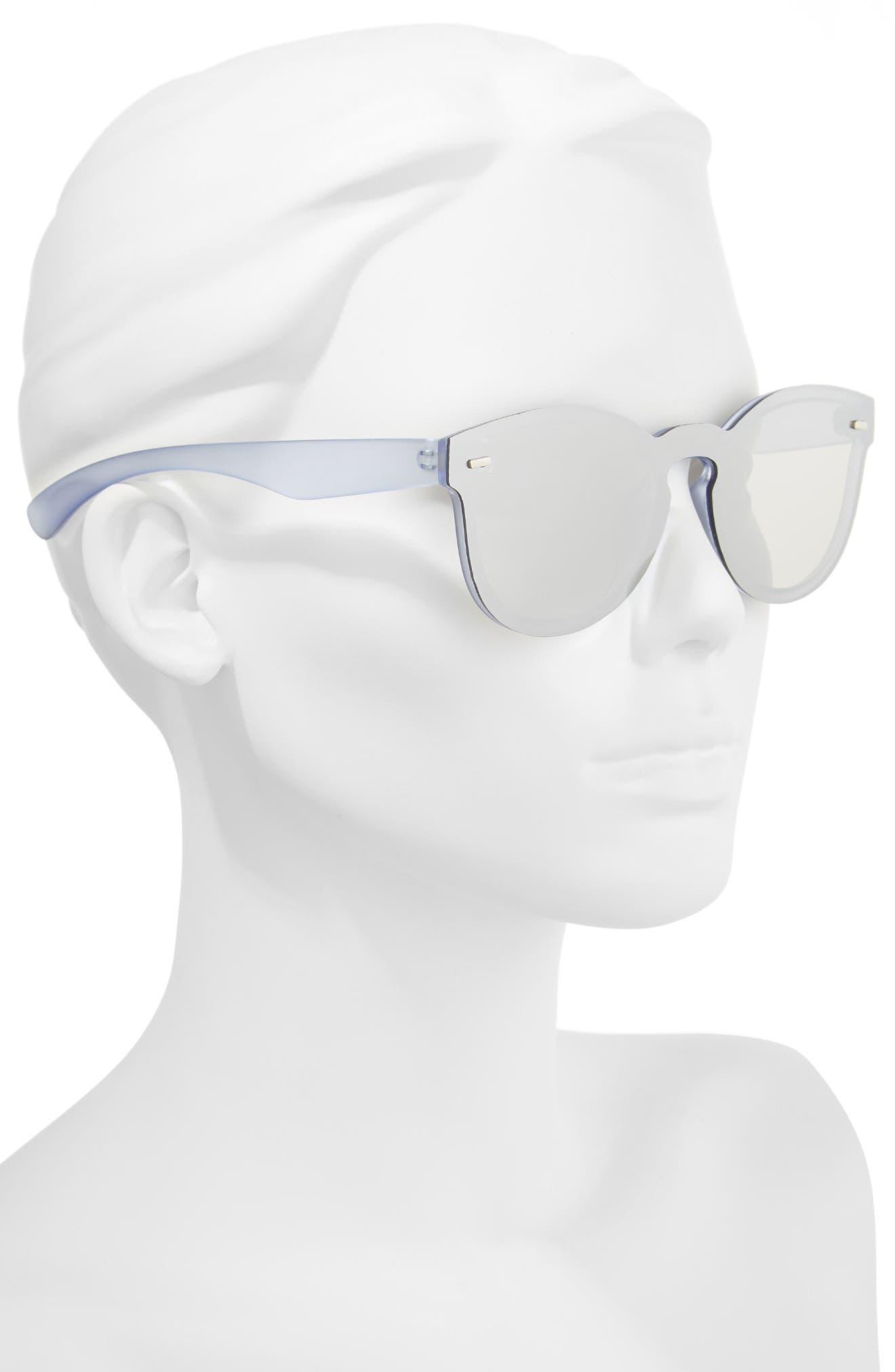 50mm Mirrored Lens Rimless Sunglasses,                             Alternate thumbnail 2, color,                             400