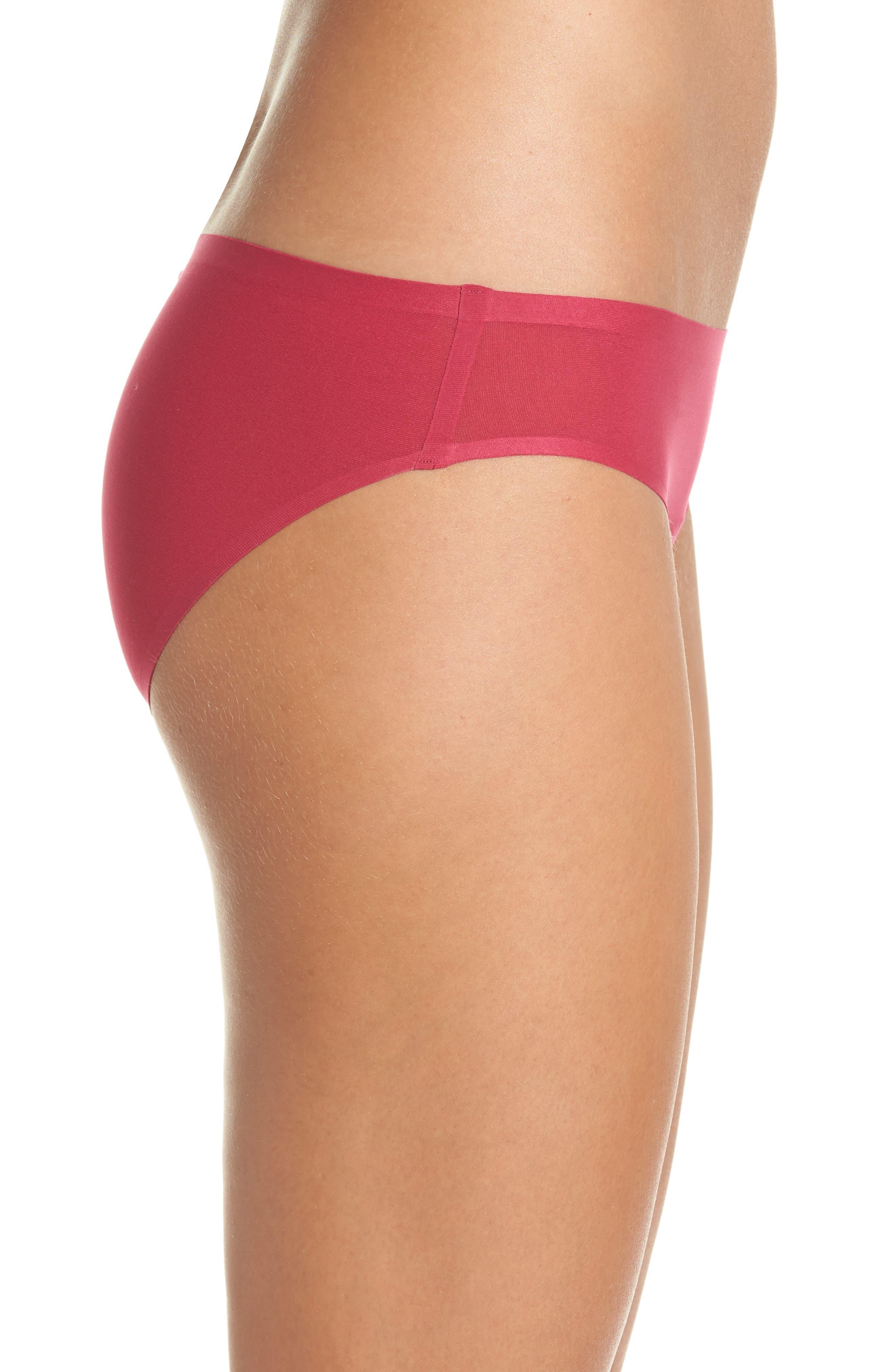 Soft Stretch Seamless Bikini,                             Alternate thumbnail 3, color,                             MAGENTA