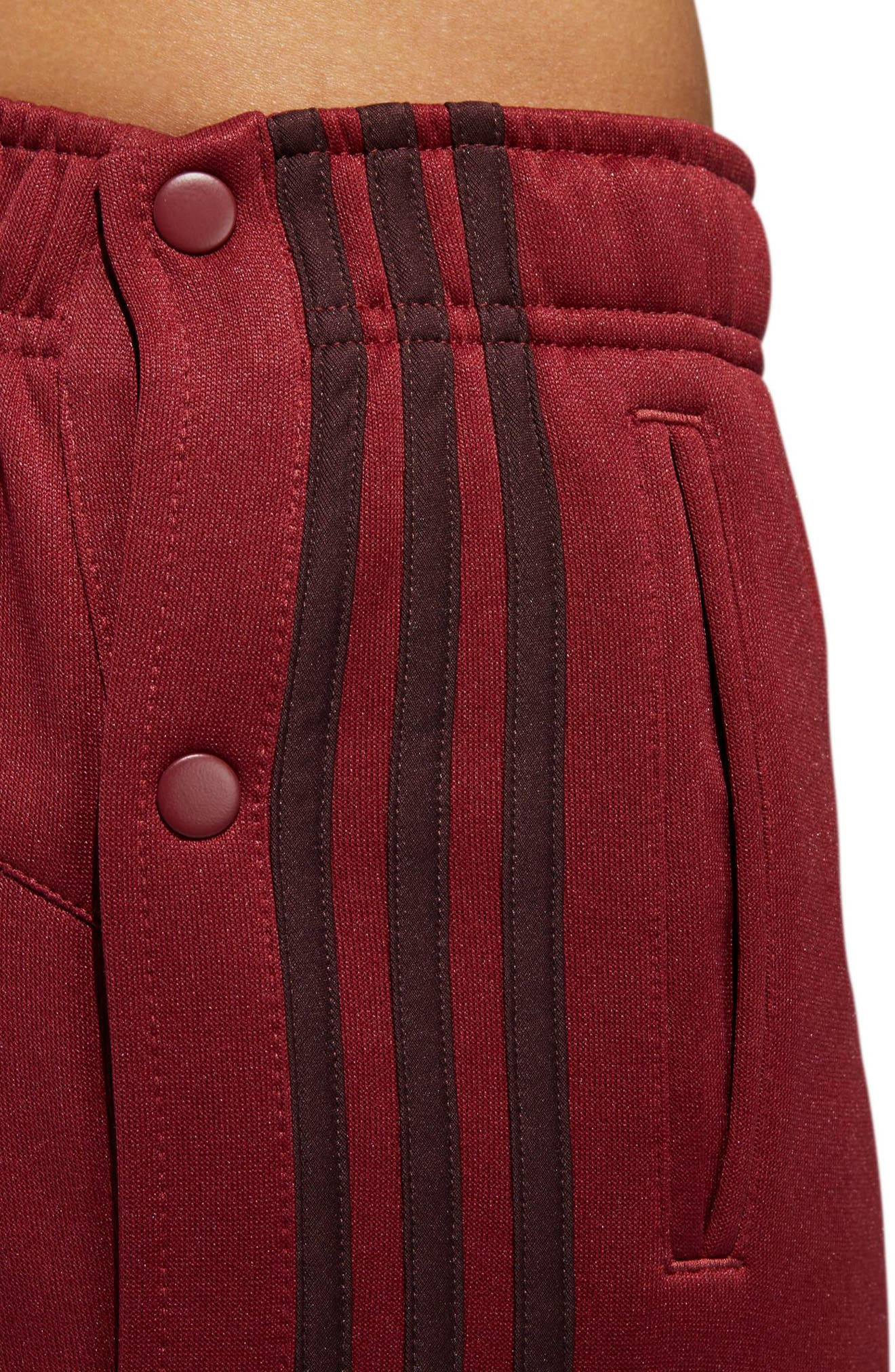Tricot Snap Pants,                             Alternate thumbnail 6, color,                             NOBLE MAROON/ NIGHT RED