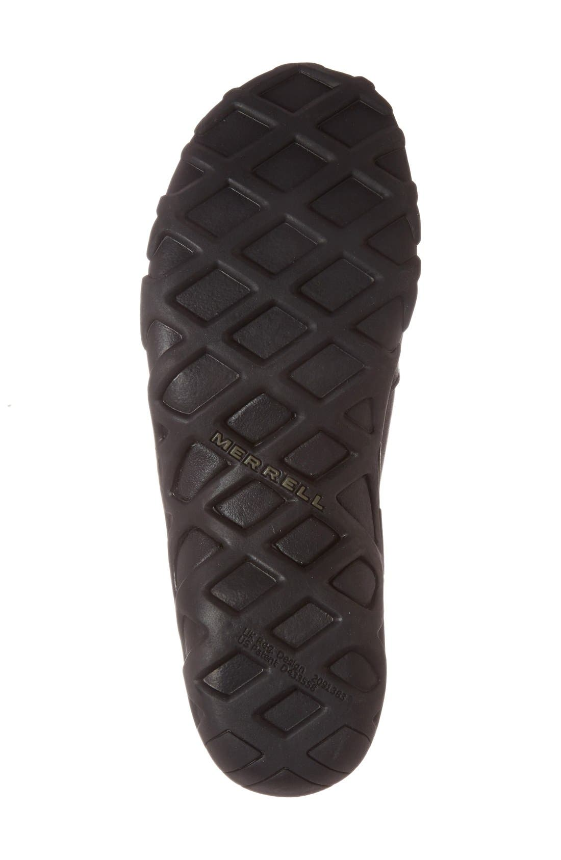 'Jungle Moc' Leather Athletic Slip-On,                             Alternate thumbnail 5, color,                             BLACK