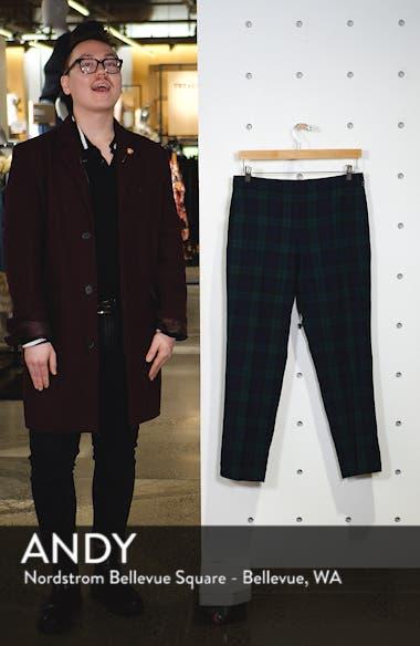 Martie Black Watch Stretch Wool Blend Crop Pants, sales video thumbnail