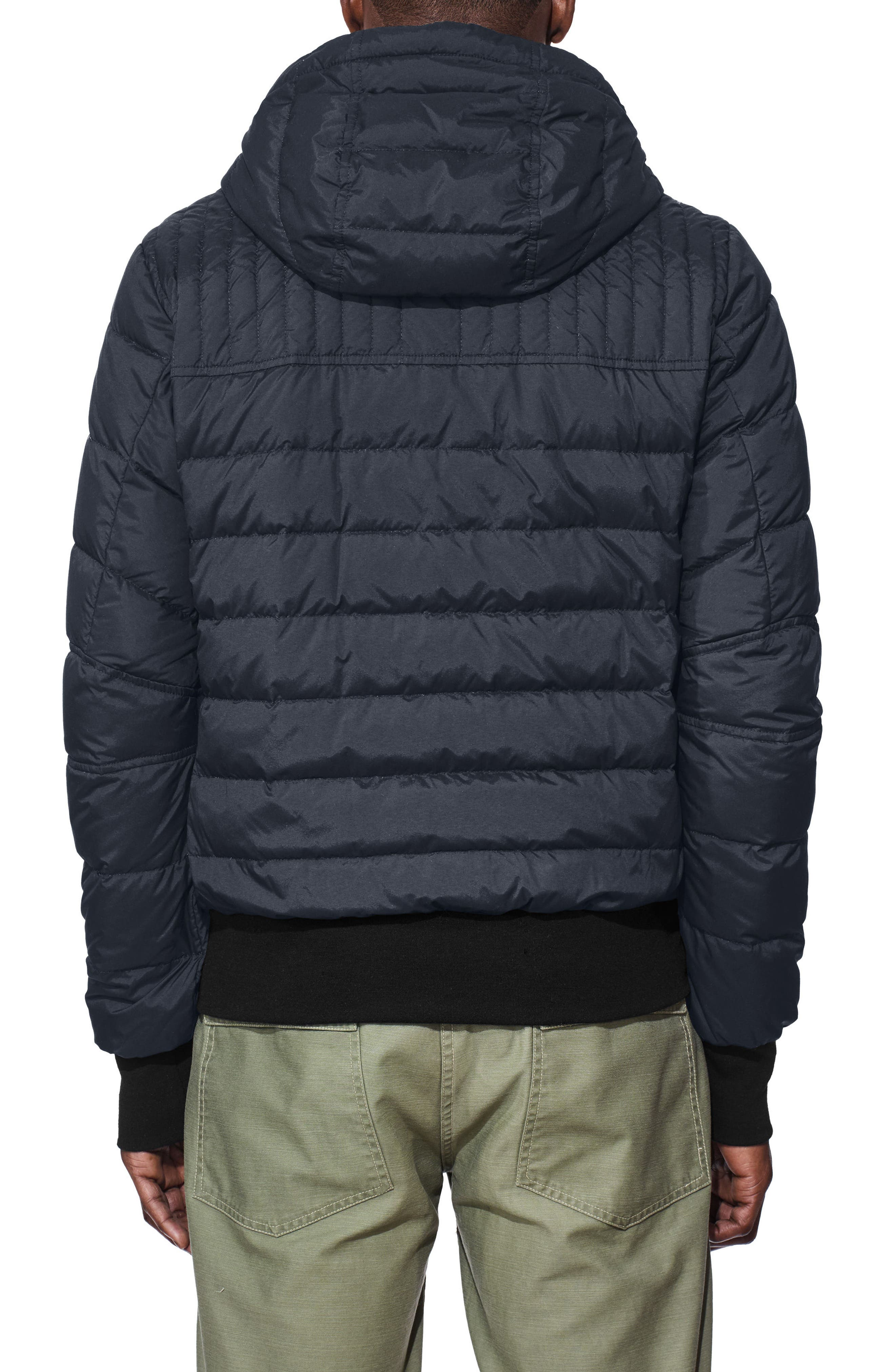 Cabri Hooded Slim Fit Down Jacket,                             Alternate thumbnail 2, color,                             POLAR SEA