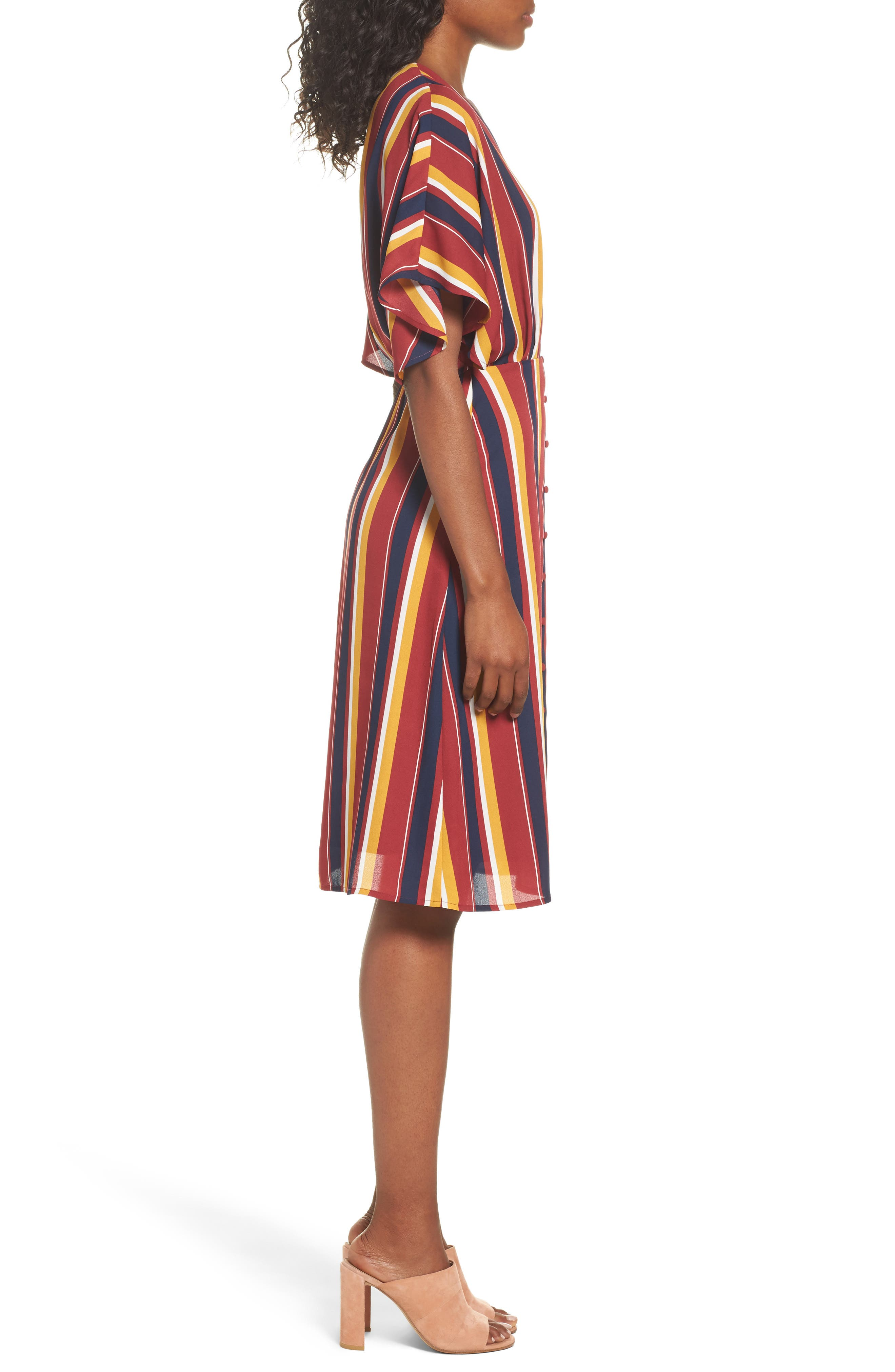Dreamer Stripe Dress,                             Alternate thumbnail 3, color,                             646