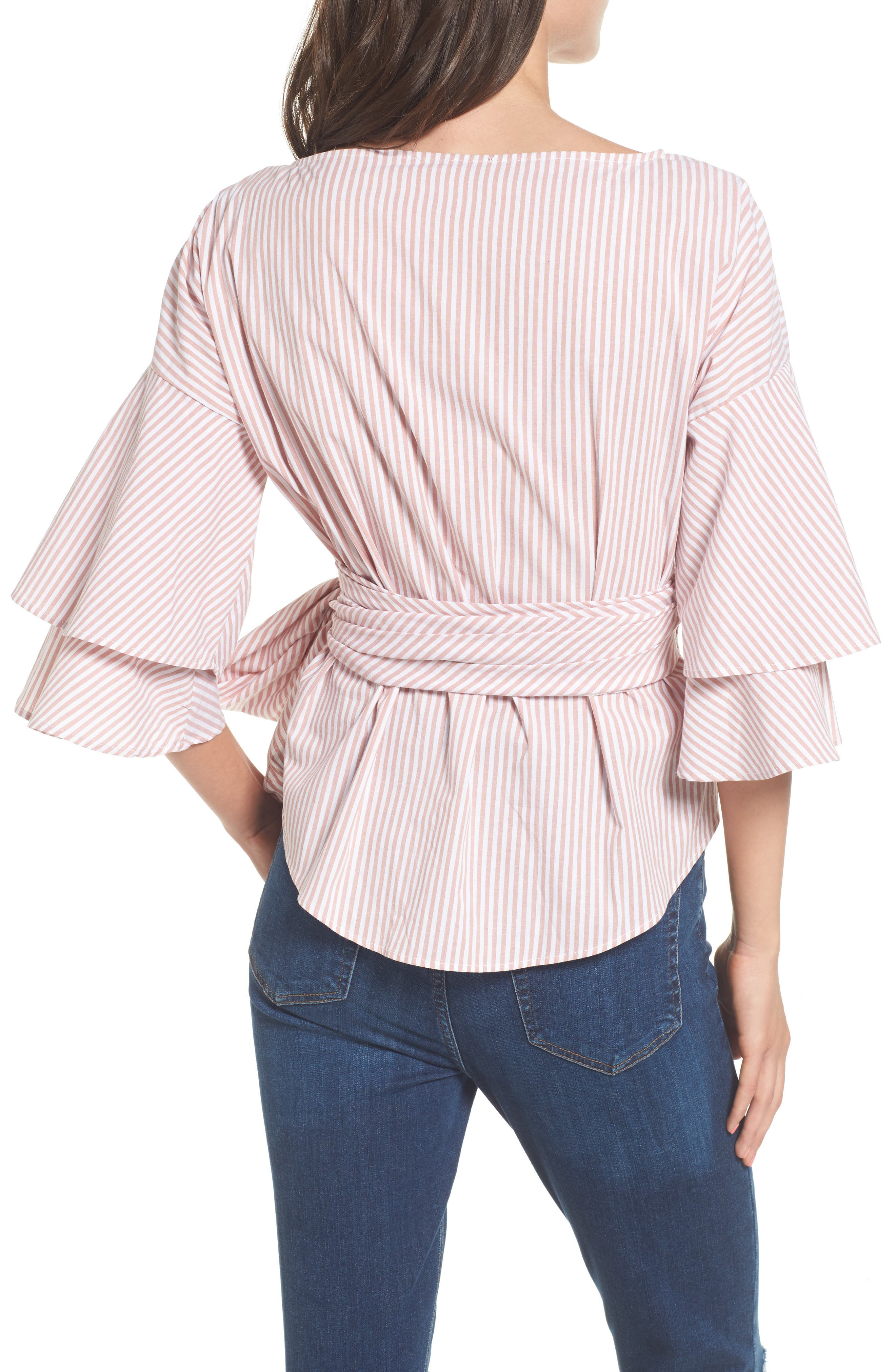 Beckett Tiered Bell Sleeve Top,                             Alternate thumbnail 13, color,