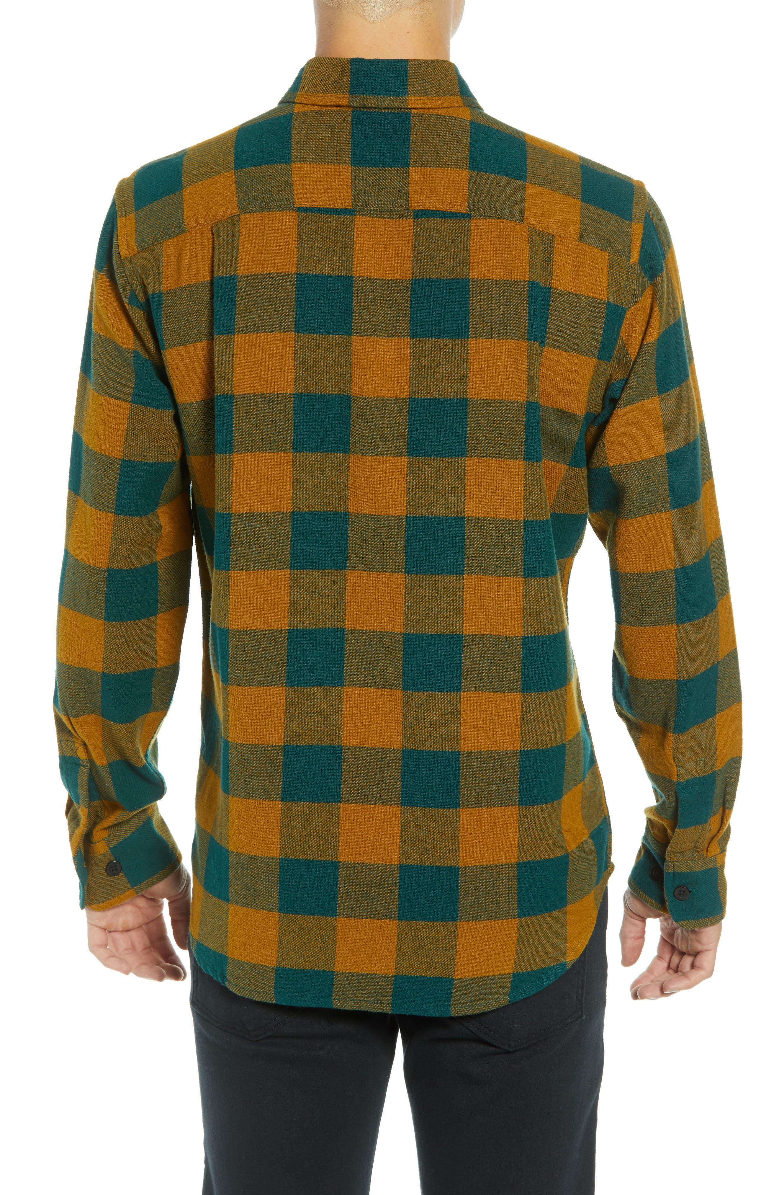 Vedder Buffalo Plaid Flannel Shirt,                             Alternate thumbnail 3, color,                             DARK TEAL MULTI