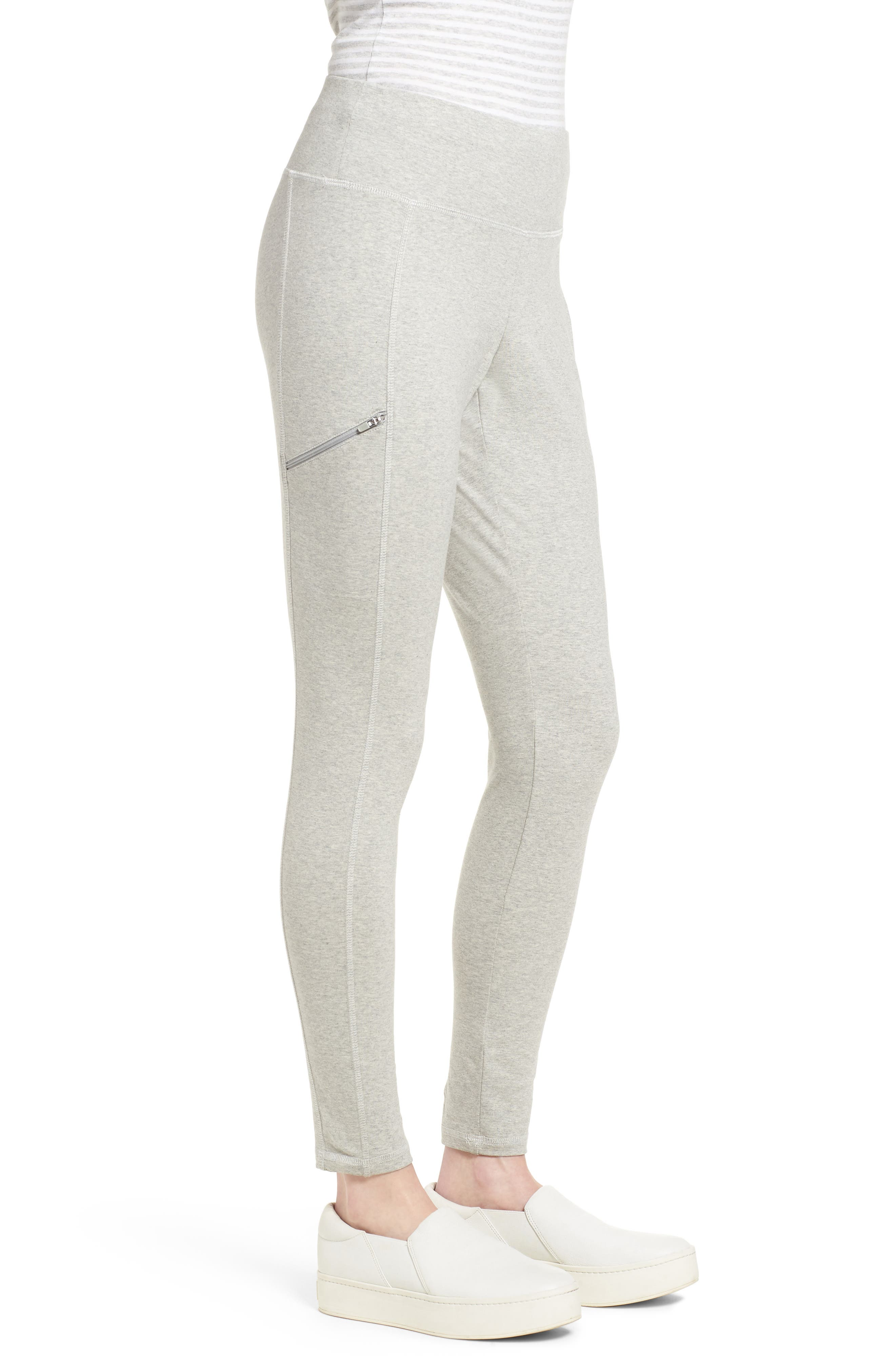 Stretch Organic Cotton Skinny Pants,                             Alternate thumbnail 3, color,