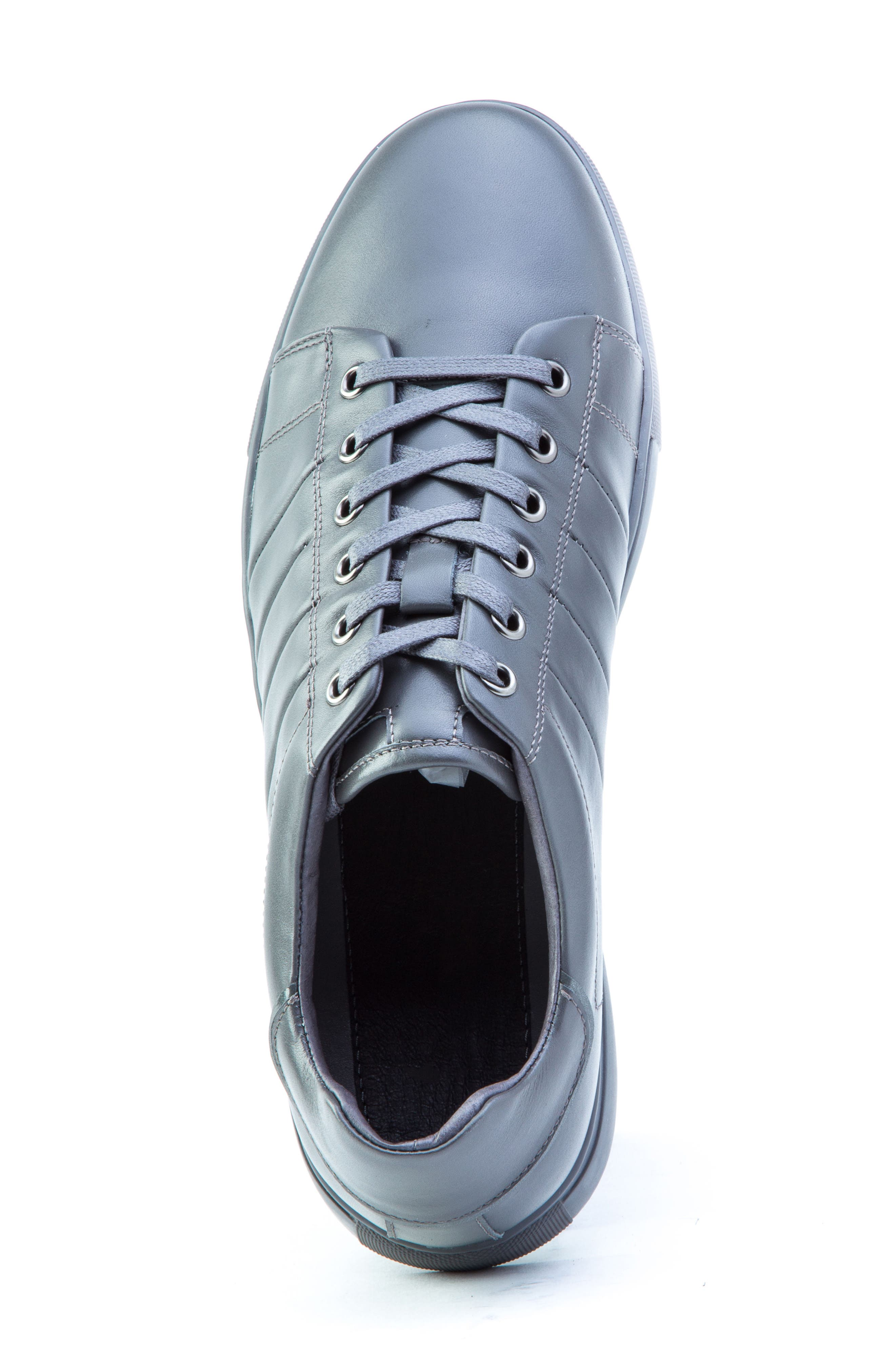 Mitchell Sneaker,                             Alternate thumbnail 5, color,                             GREY LEATHER