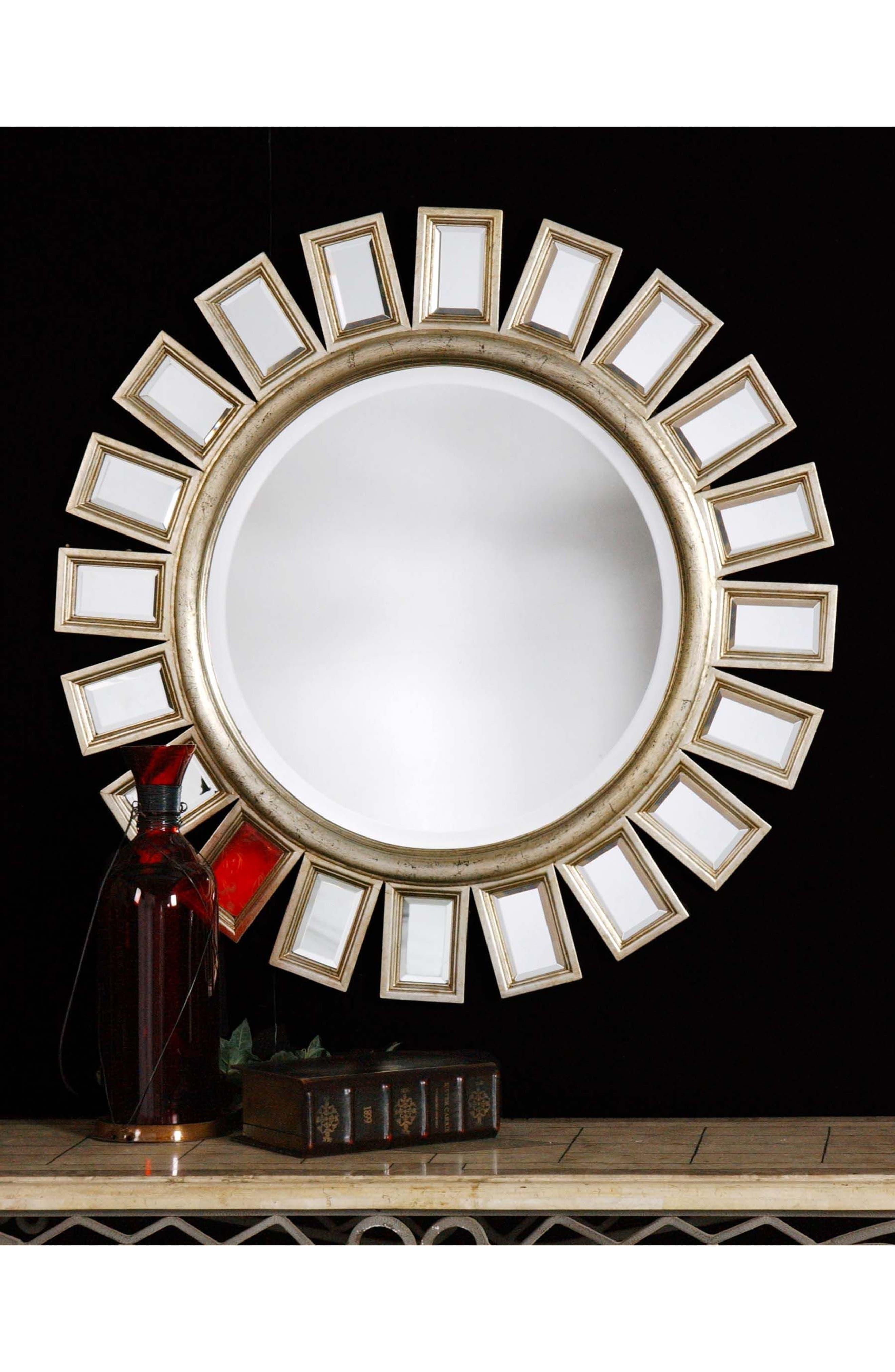 'Cyrus' Round Mirror,                             Alternate thumbnail 2, color,                             020