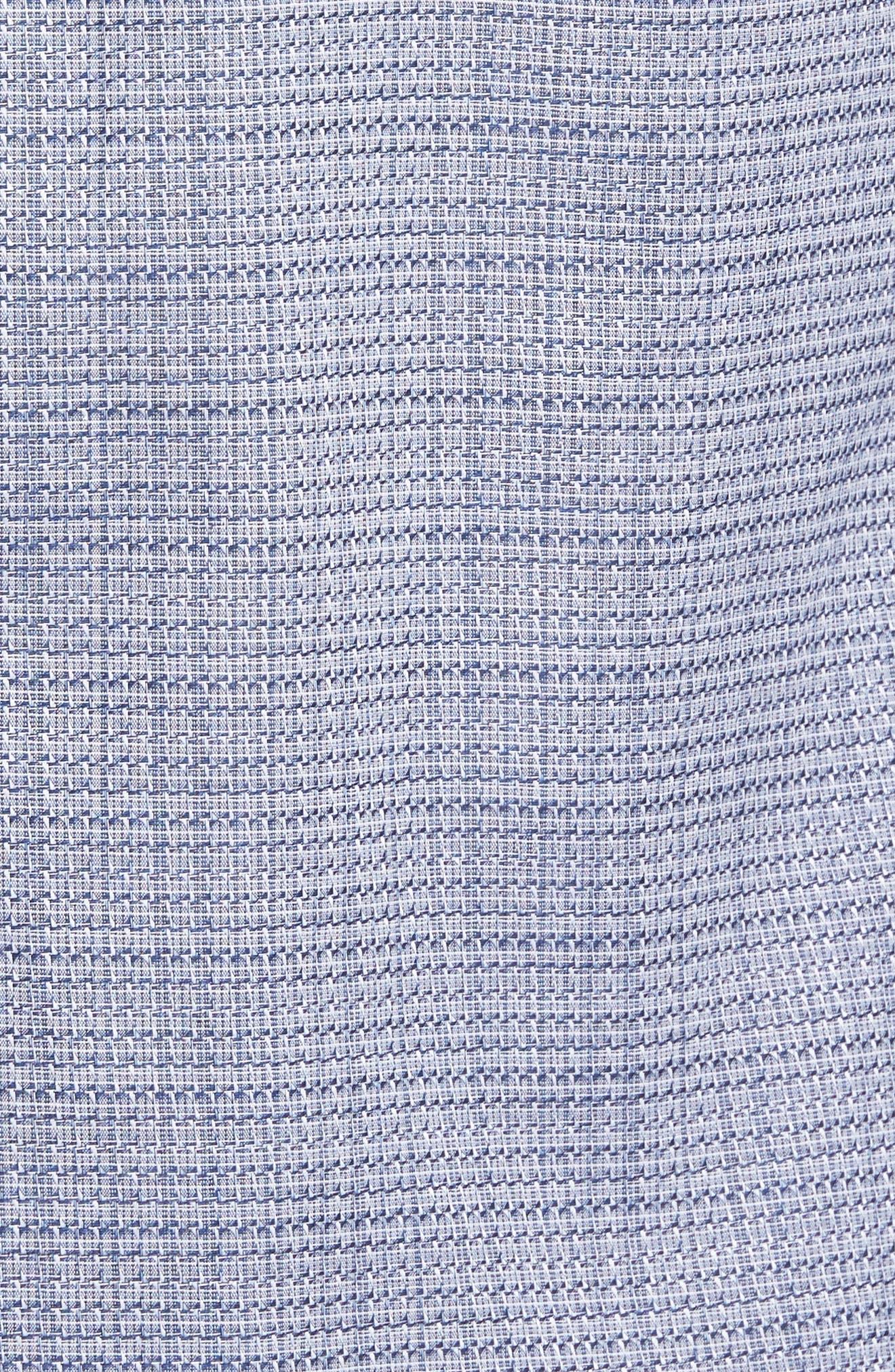 Trim Fit Print Hacking Pocket Sport Shirt,                             Alternate thumbnail 5, color,                             410