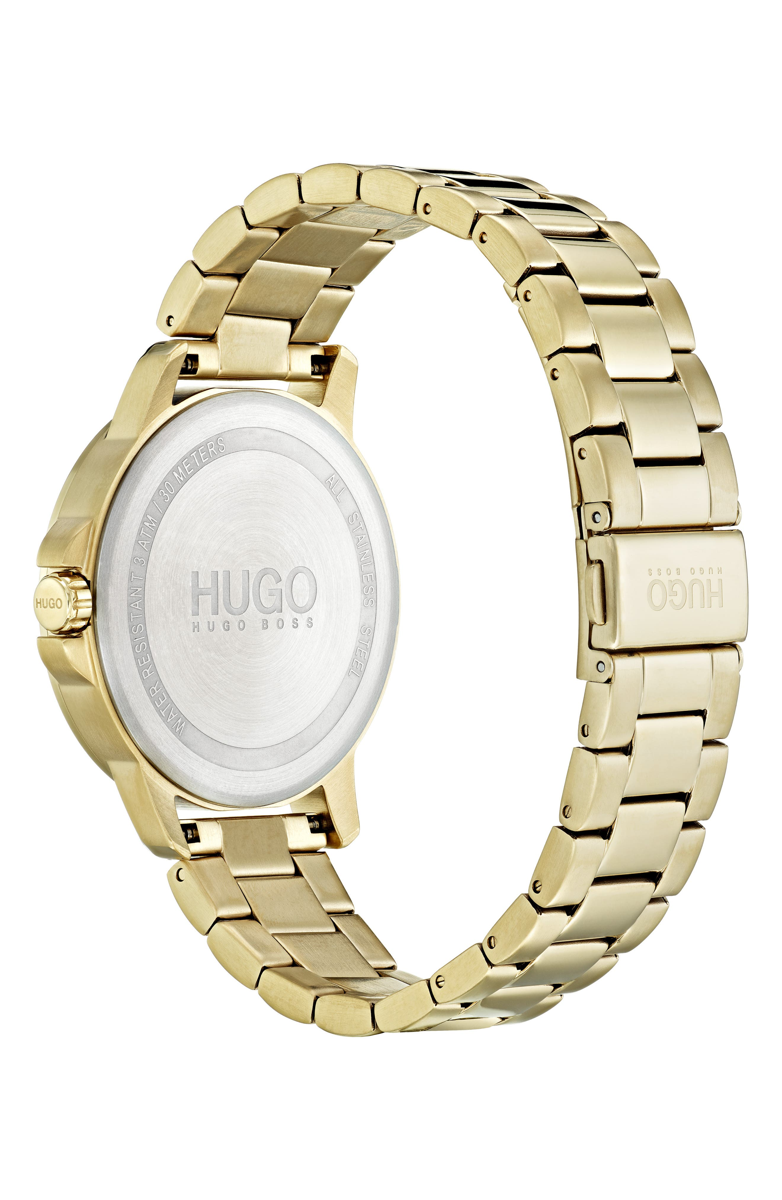 Bracelet Watch, 42mm,                             Alternate thumbnail 2, color,                             GOLD