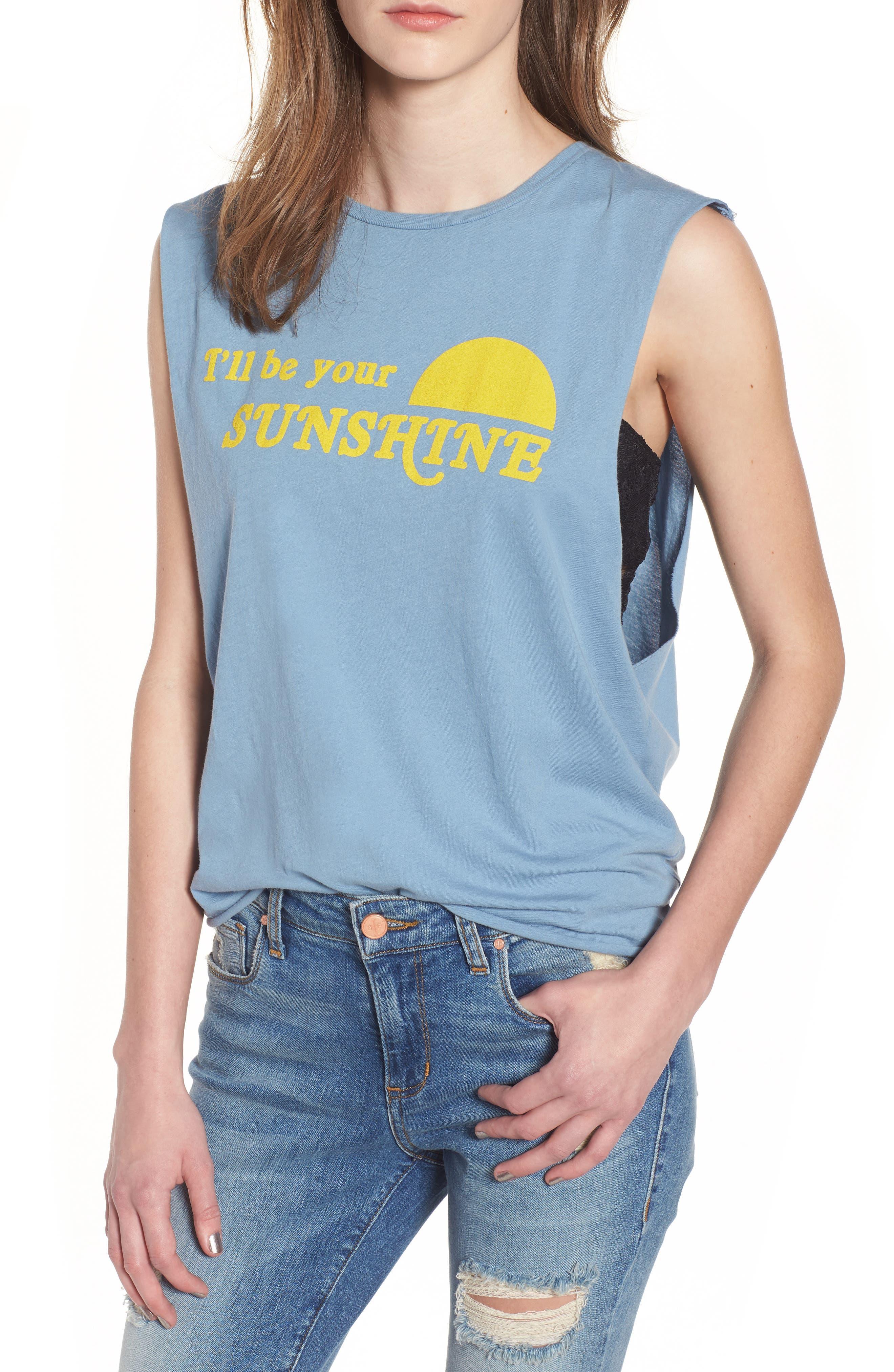 Sunshine Screenprint Muscle Tee,                             Main thumbnail 1, color,