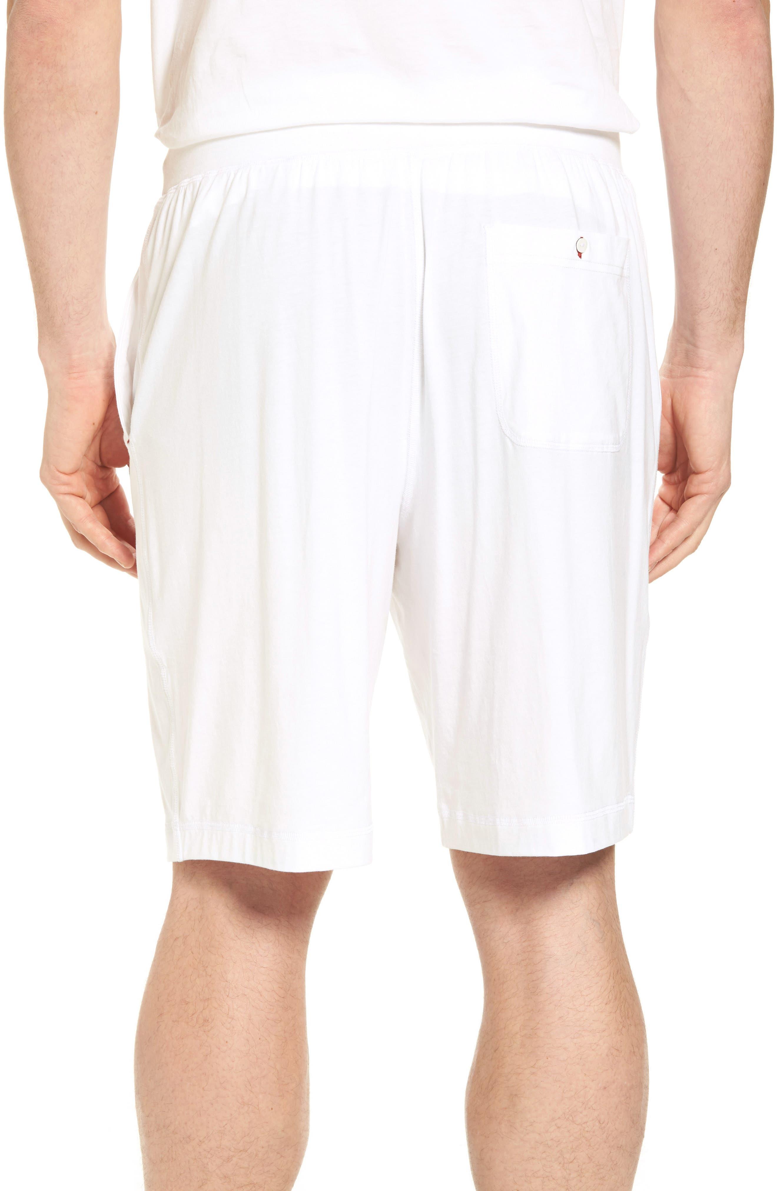 Stretch Cotton Blend Lounge Shorts,                             Alternate thumbnail 2, color,                             100