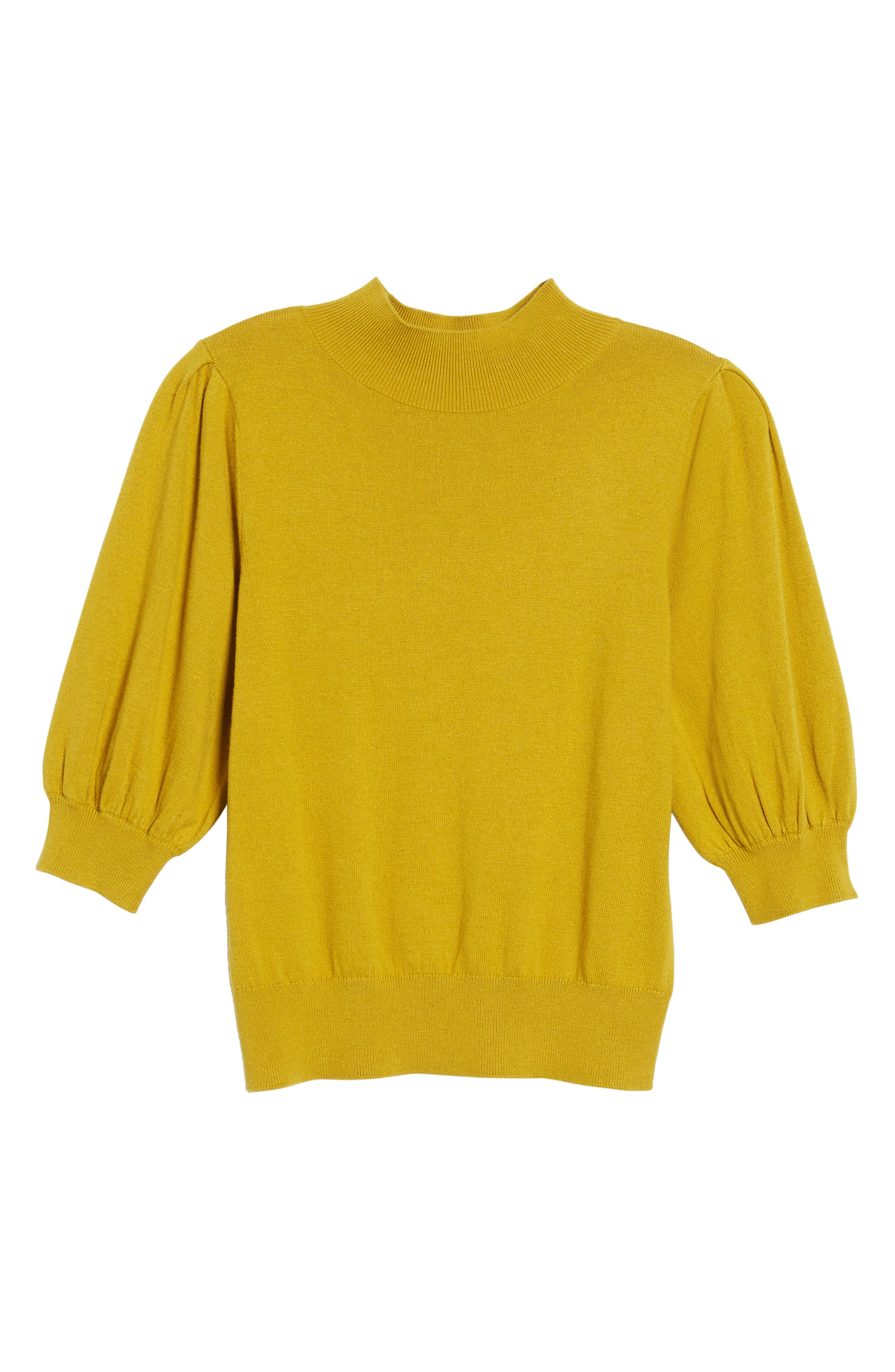 Puff Sleeve Sweater,                             Alternate thumbnail 18, color,