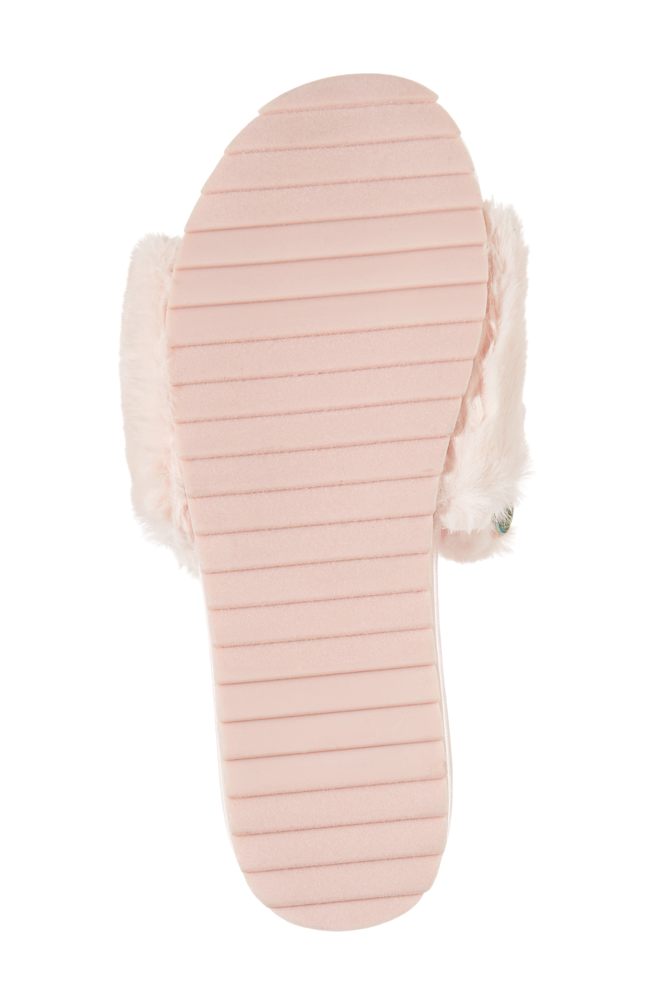 Willa Carrot Faux Fur Slide Sandal,                             Alternate thumbnail 6, color,                             650