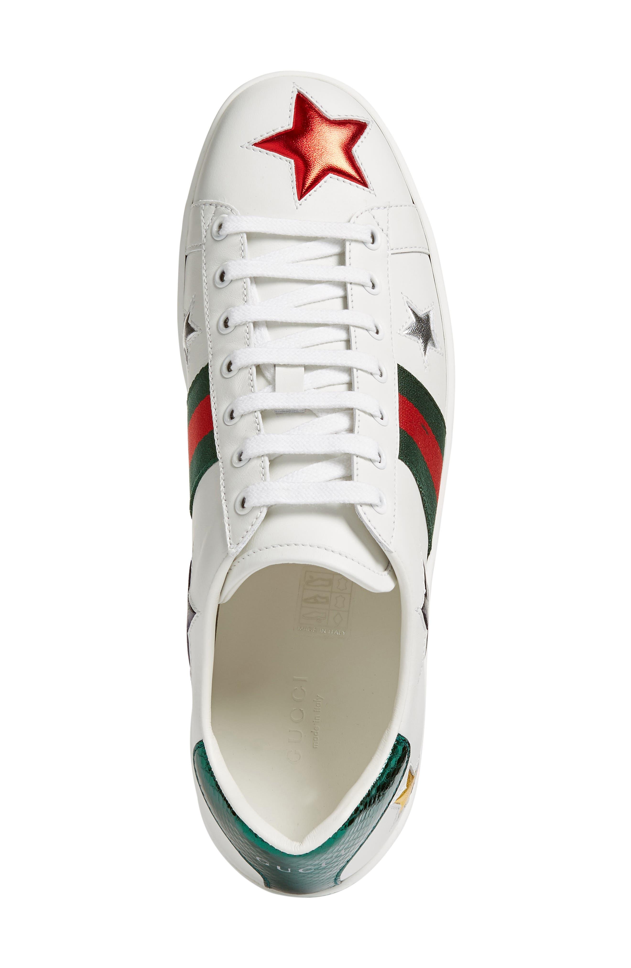 New Ace Star Sneaker,                             Alternate thumbnail 5, color,                             WHITE MULTI