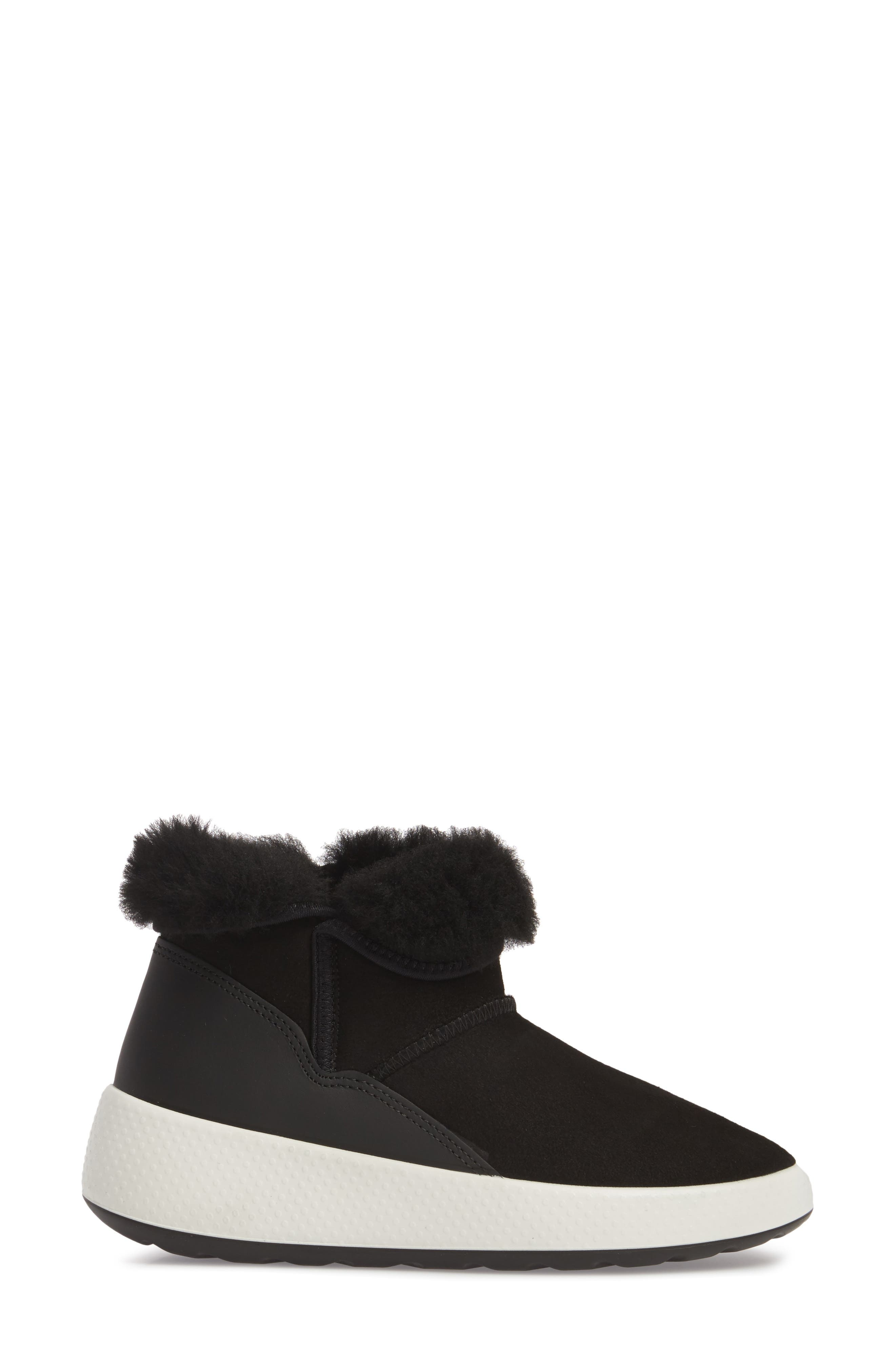 Ukiuk Genuine Shearling Boot,                             Alternate thumbnail 3, color,                             001