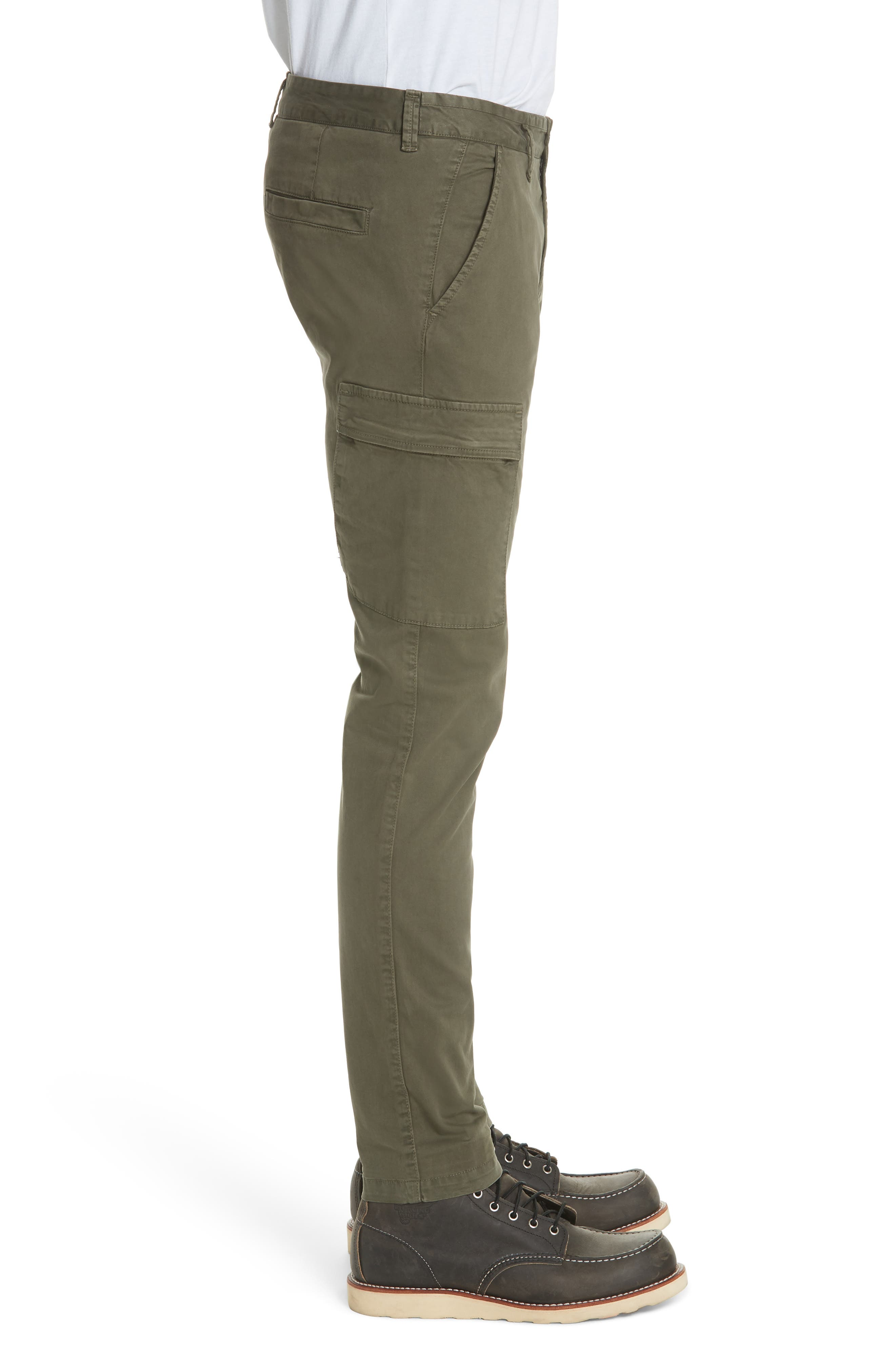 Slim Fit Cargo Chinos,                             Alternate thumbnail 3, color,                             400