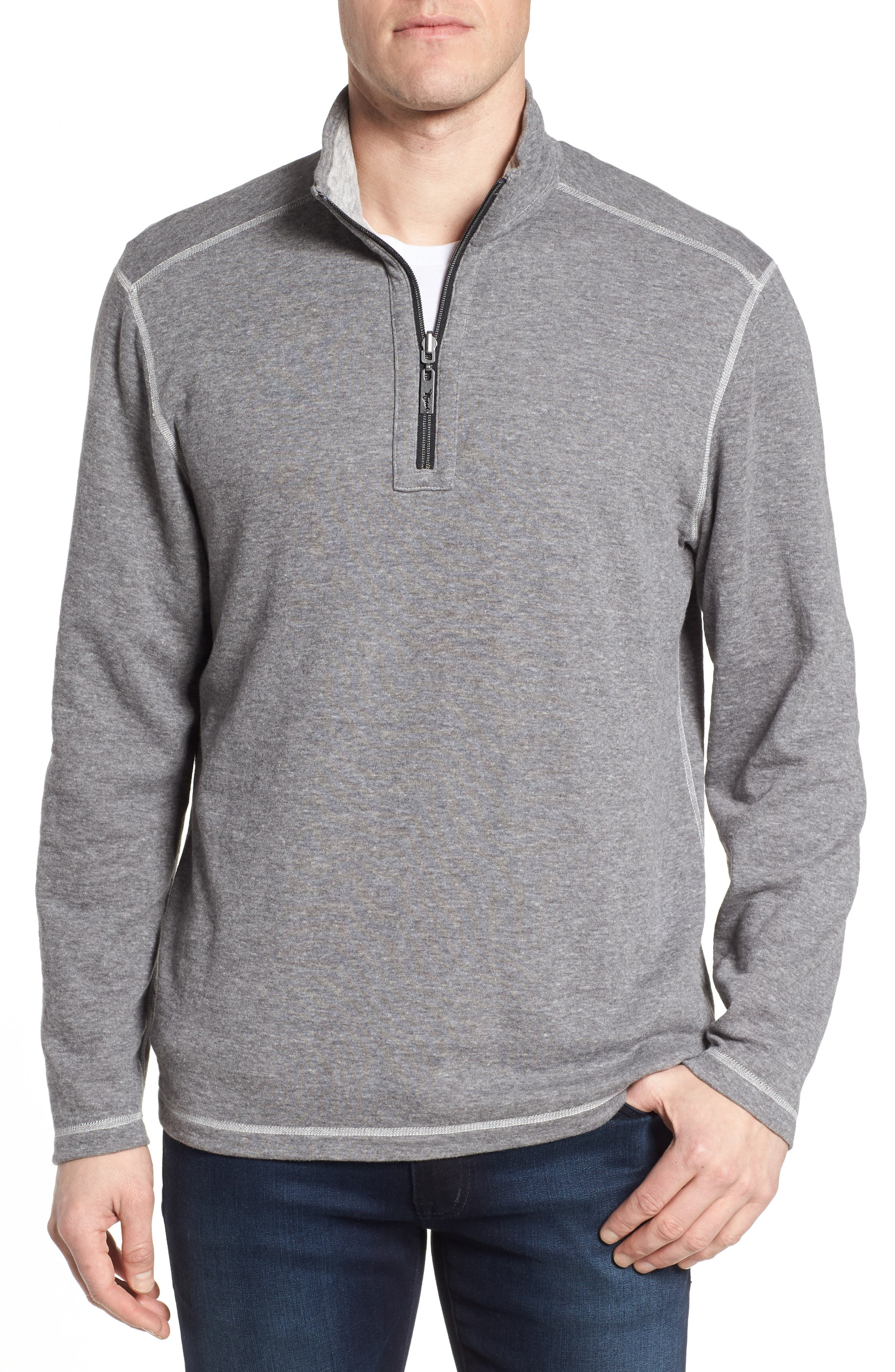 Sea Glass Reversible Quarter Zip Pullover,                             Alternate thumbnail 10, color,