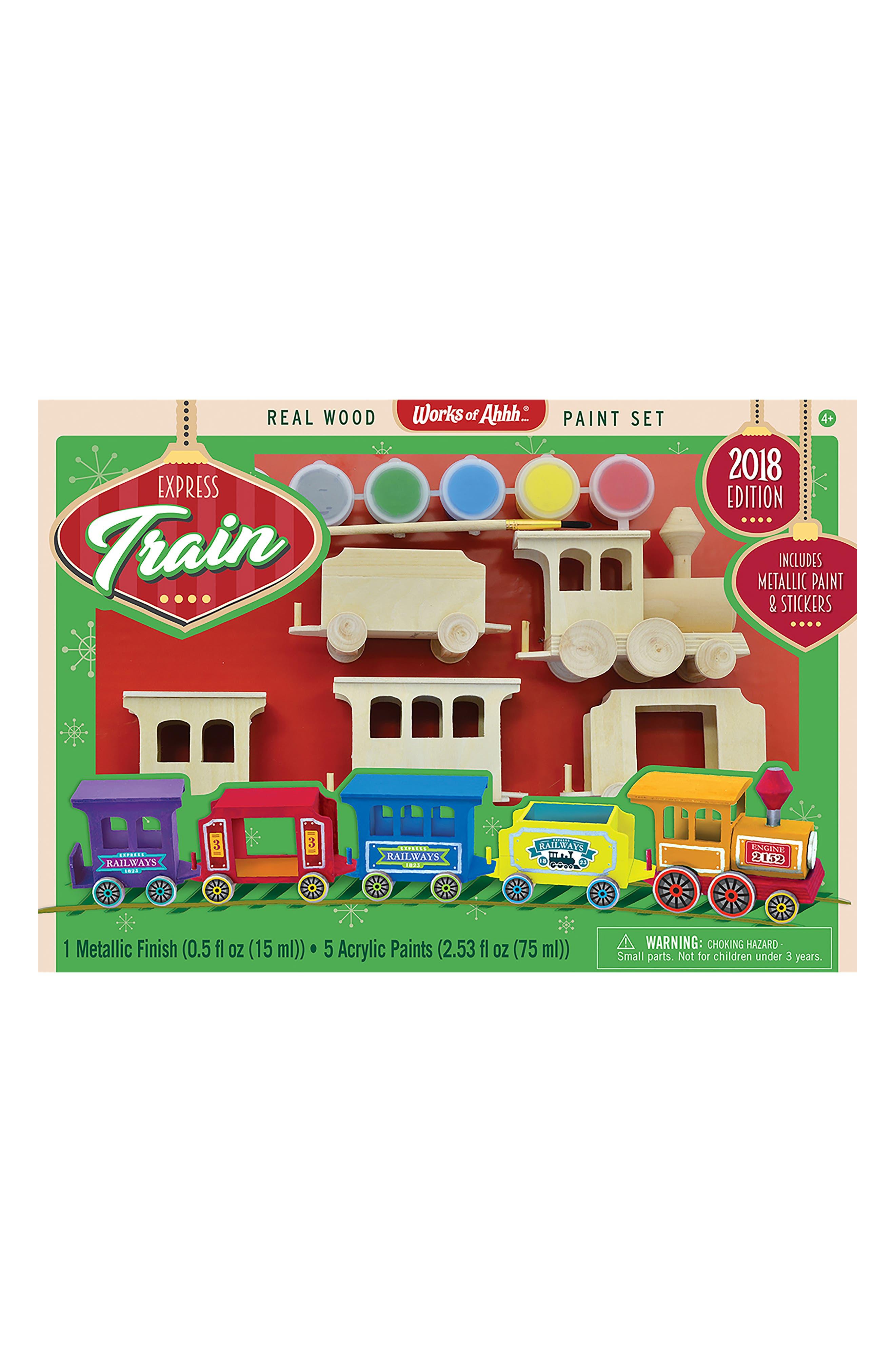 Holiday Express Train 2018 Wood Craft & Paint Kit,                             Main thumbnail 1, color,                             960