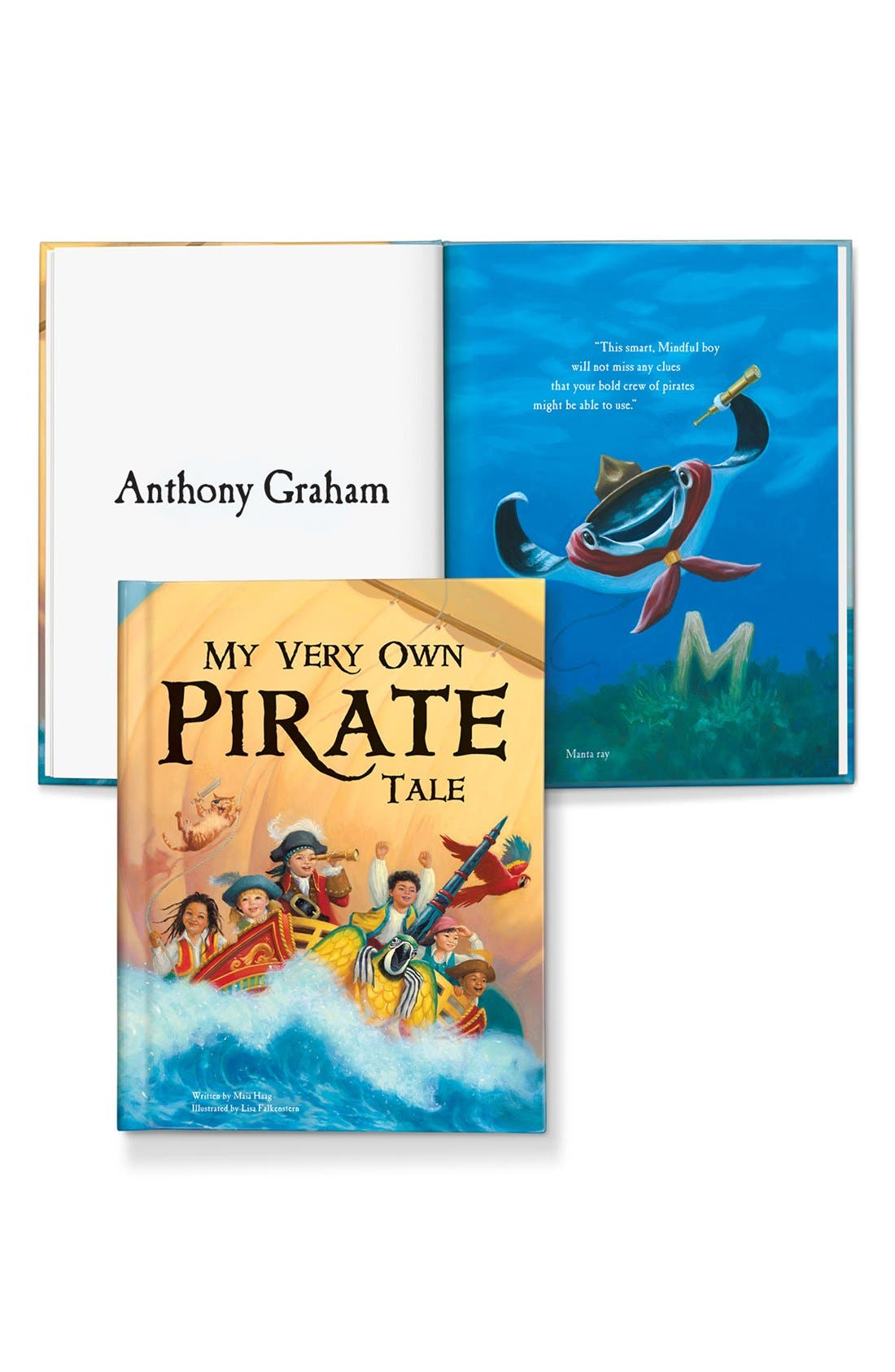 I SEE ME!,                             'My Very Own Pirate Tale' Personalized Hardcover Book,                             Alternate thumbnail 2, color,                             000
