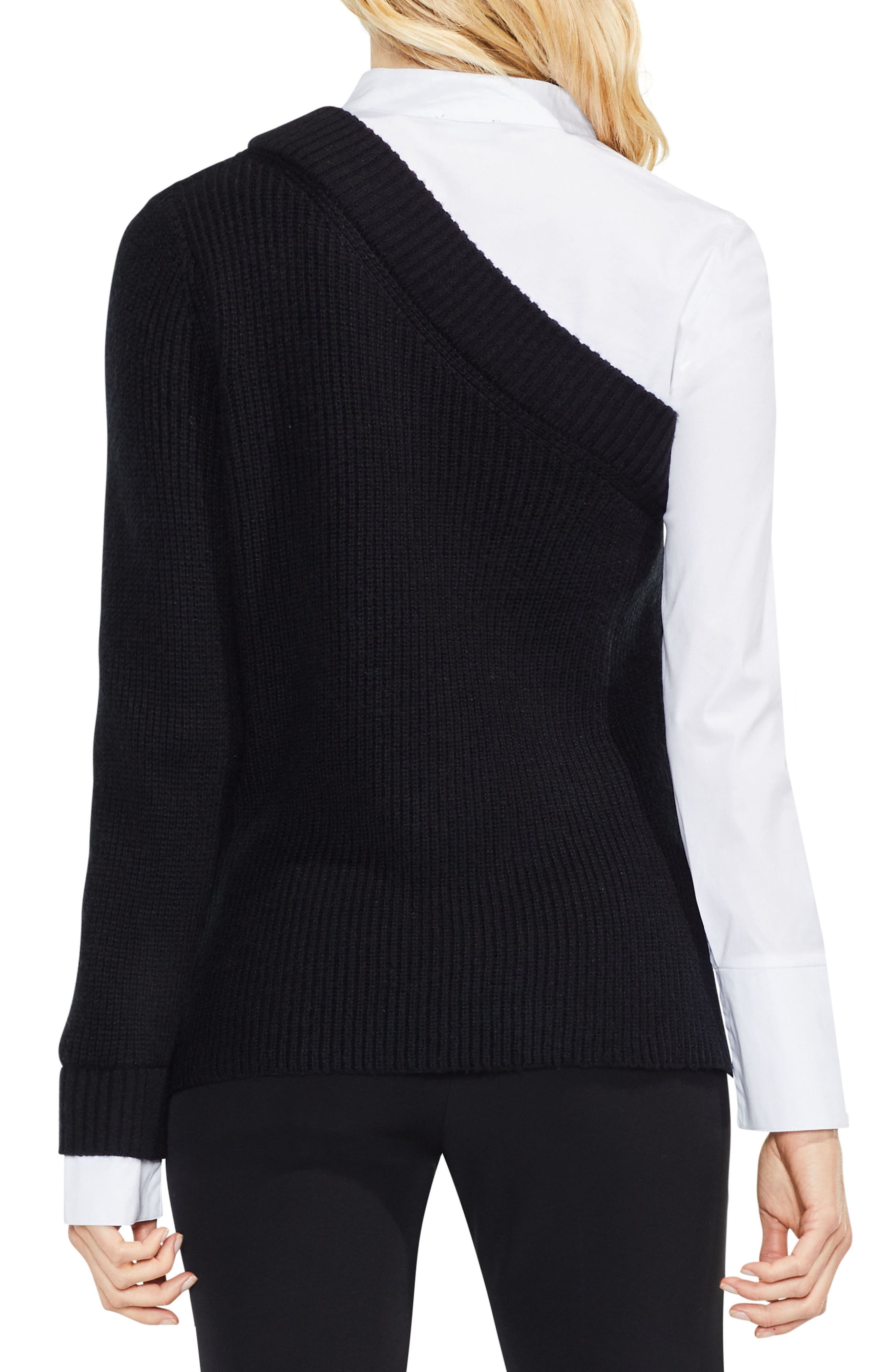 Mix Media Layered Sweater,                             Alternate thumbnail 3, color,