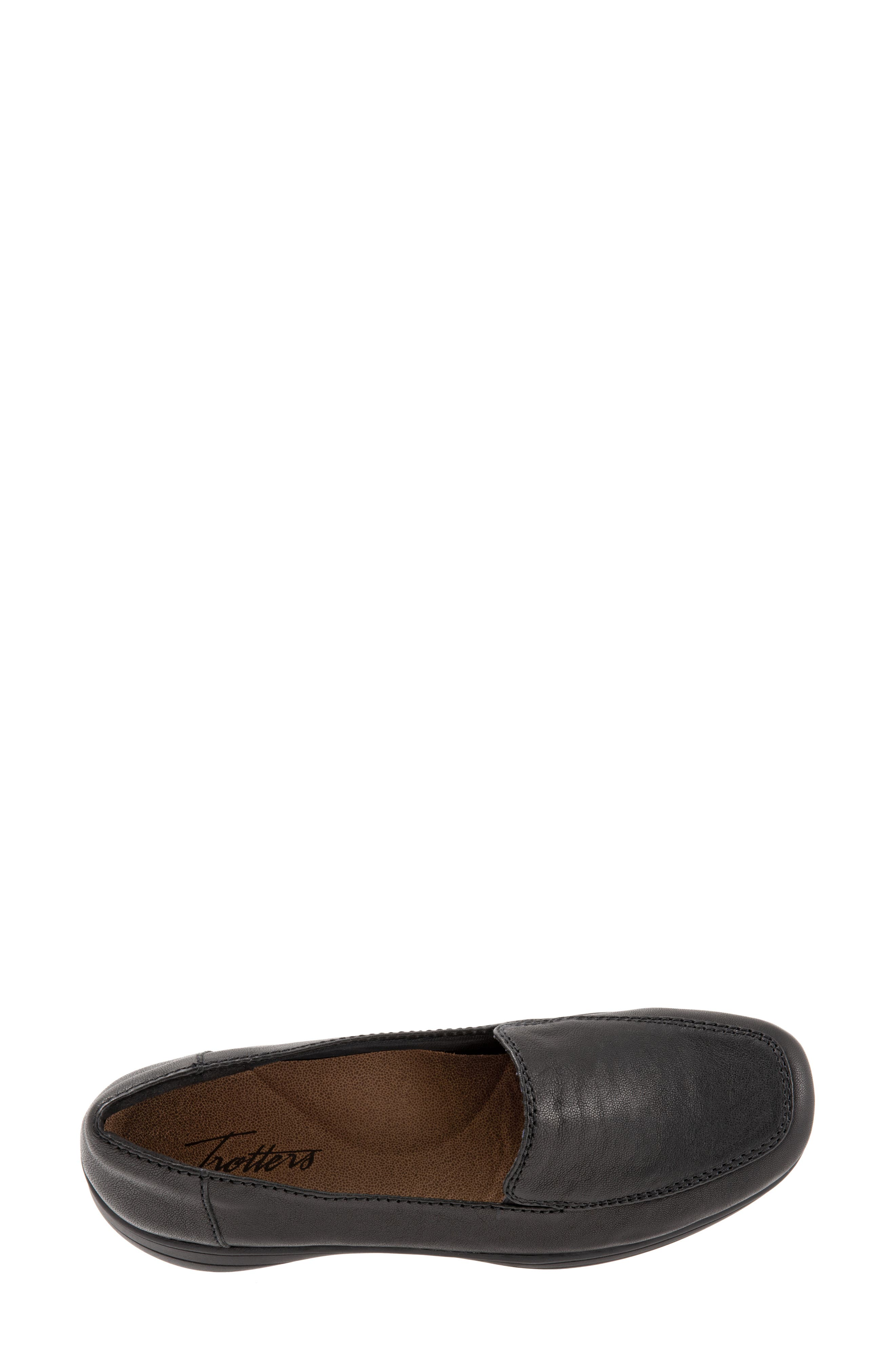 Jacob Loafer,                             Alternate thumbnail 5, color,                             BLACK LEATHER