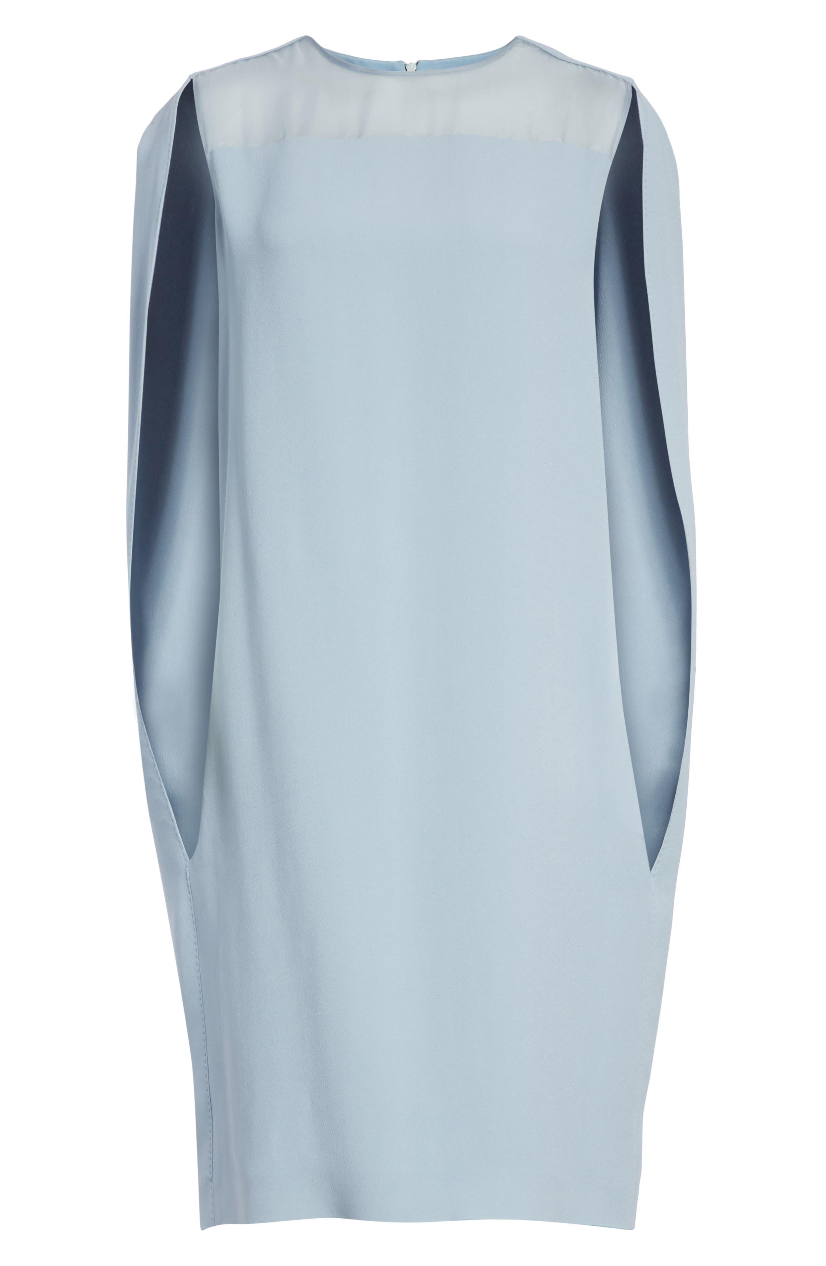 Sospiro Cape Shift Dress,                             Alternate thumbnail 12, color,