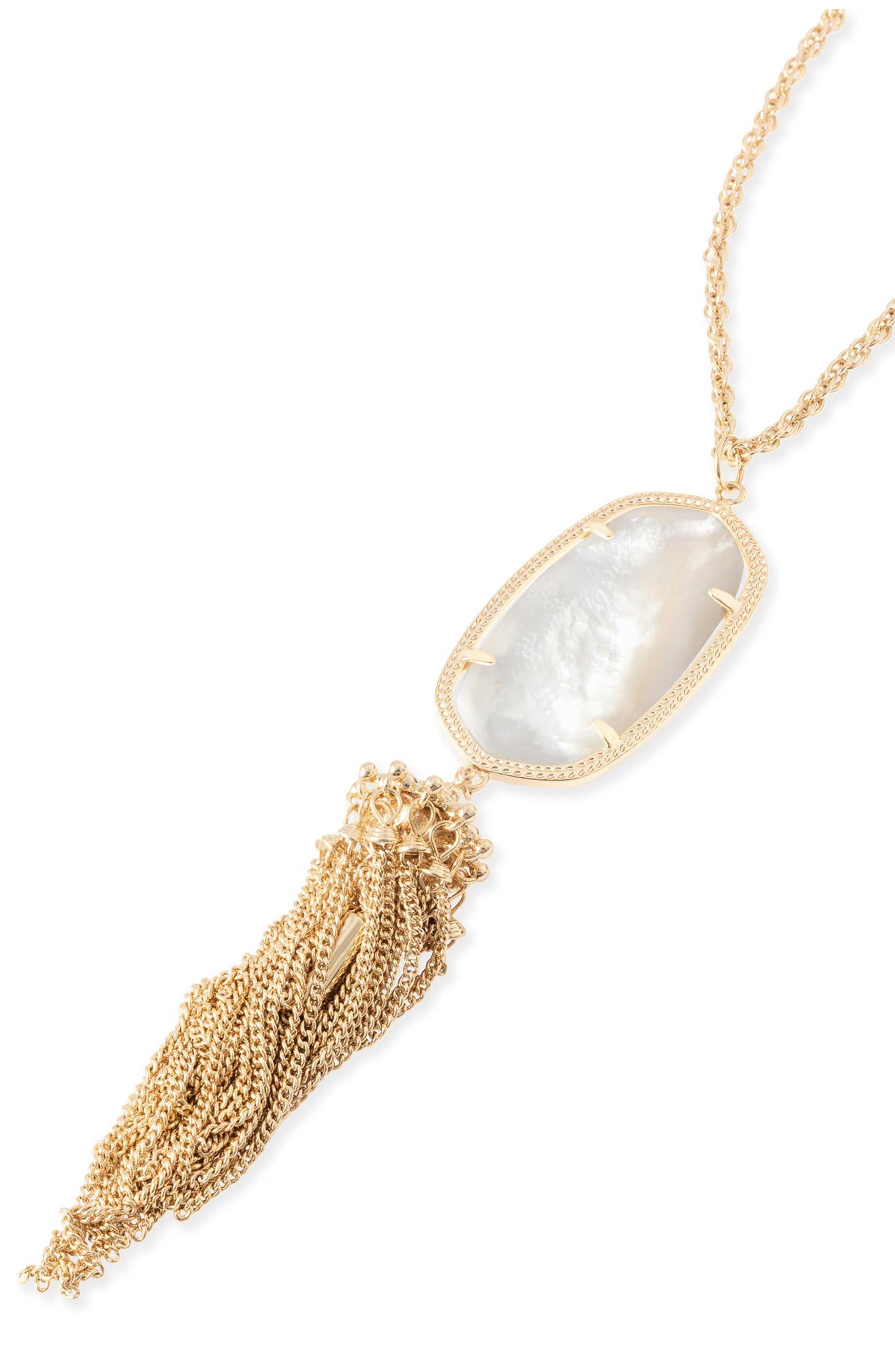 Rayne Stone Tassel Pendant Necklace,                             Alternate thumbnail 254, color,