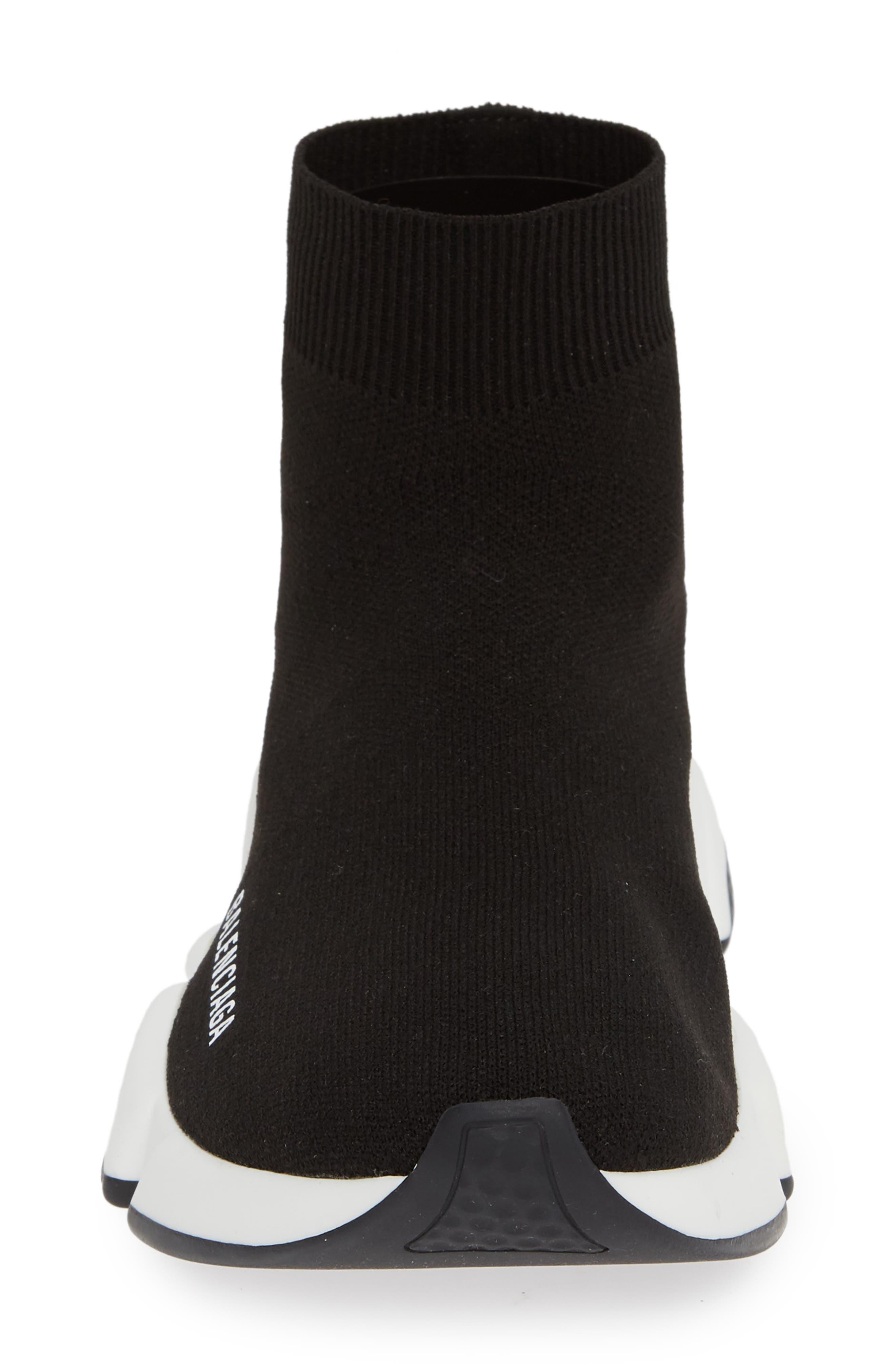 Speed Knit Sneaker,                             Alternate thumbnail 4, color,                             BLACK
