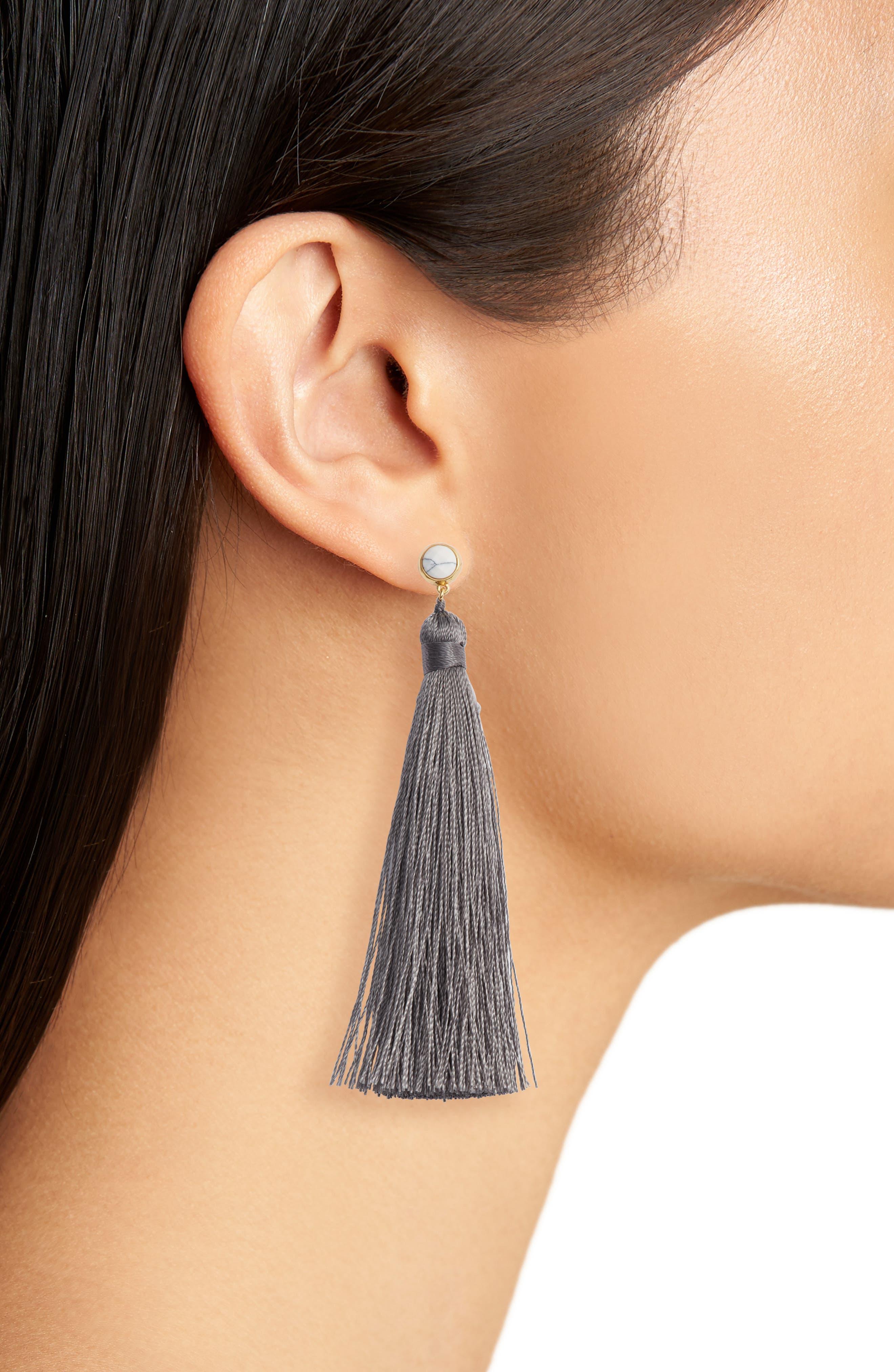Tulum Tassel Earrings,                             Alternate thumbnail 2, color,                             020
