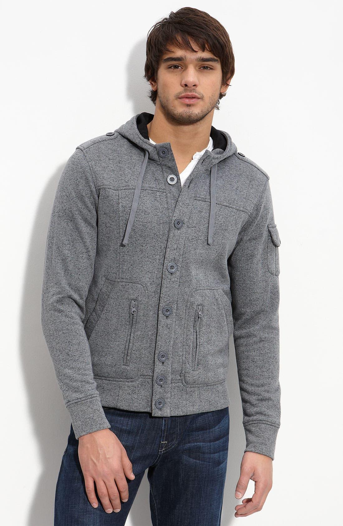 KAUN,                             Hooded Fleece Jacket,                             Main thumbnail 1, color,                             010