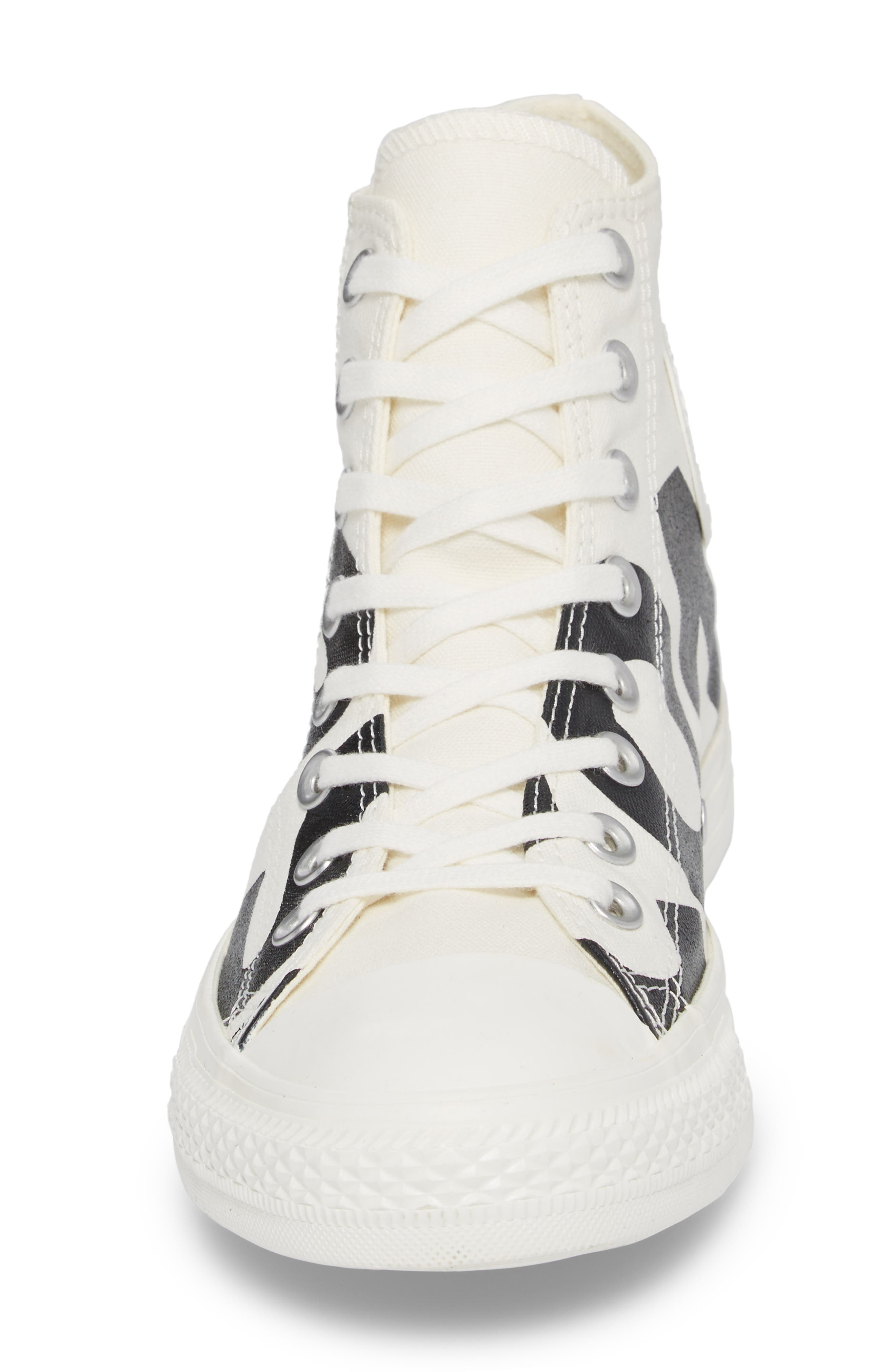 One Star Wordmark High Top Sneaker,                             Alternate thumbnail 4, color,                             001