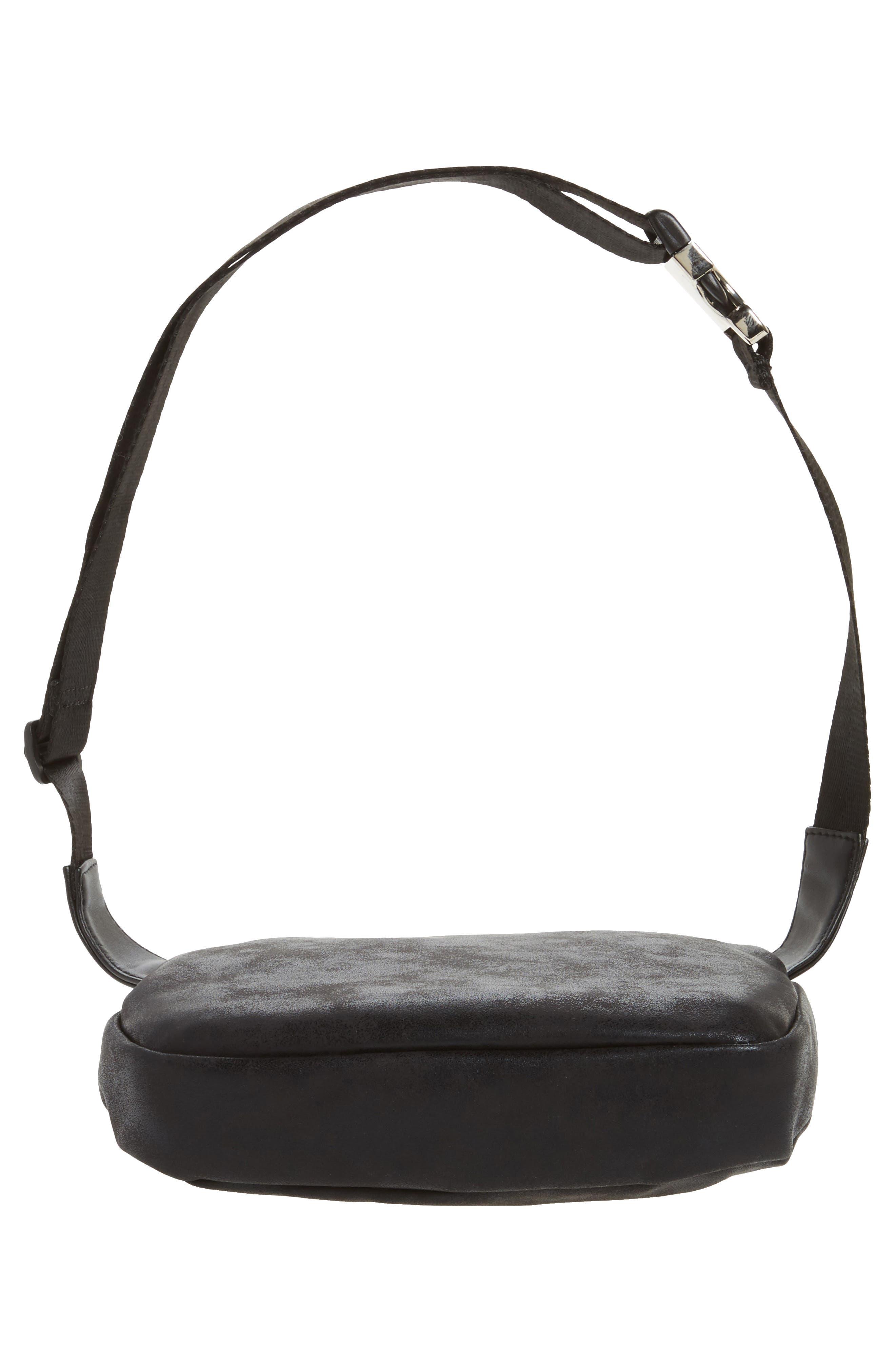 Cara Faux Leather Belt Bag,                             Alternate thumbnail 6, color,                             001