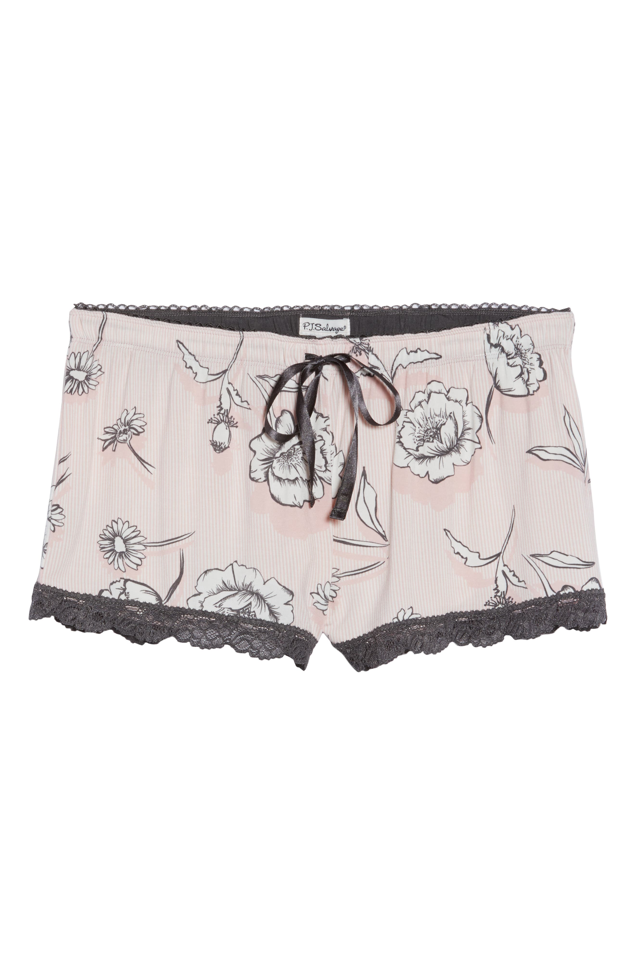 Shadow Floral Shorts,                             Alternate thumbnail 6, color,                             BLUSH