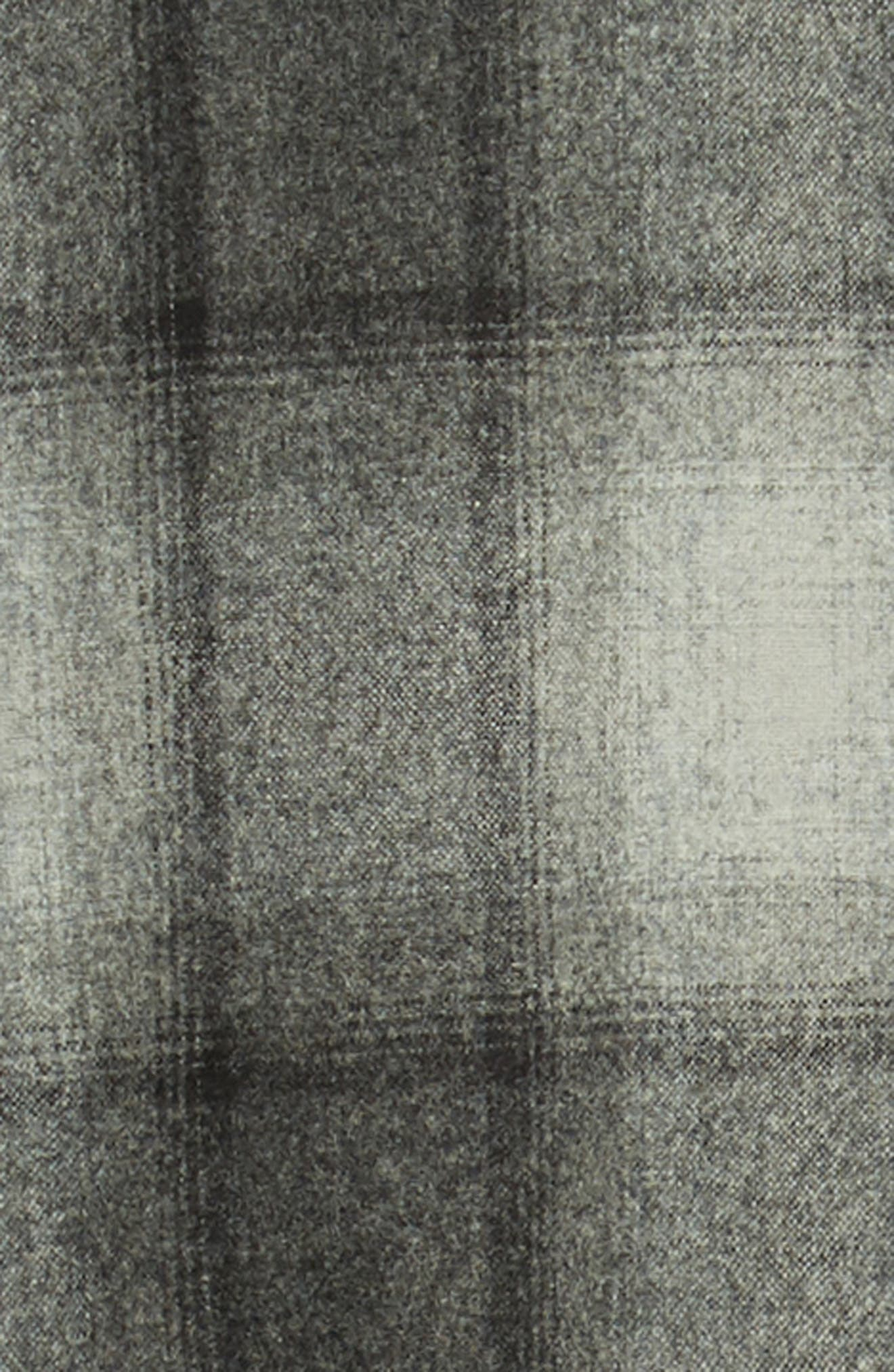 Lodge Wool Flannel Shirt,                             Alternate thumbnail 6, color,                             BLACK/ GREY MIX OMBRE